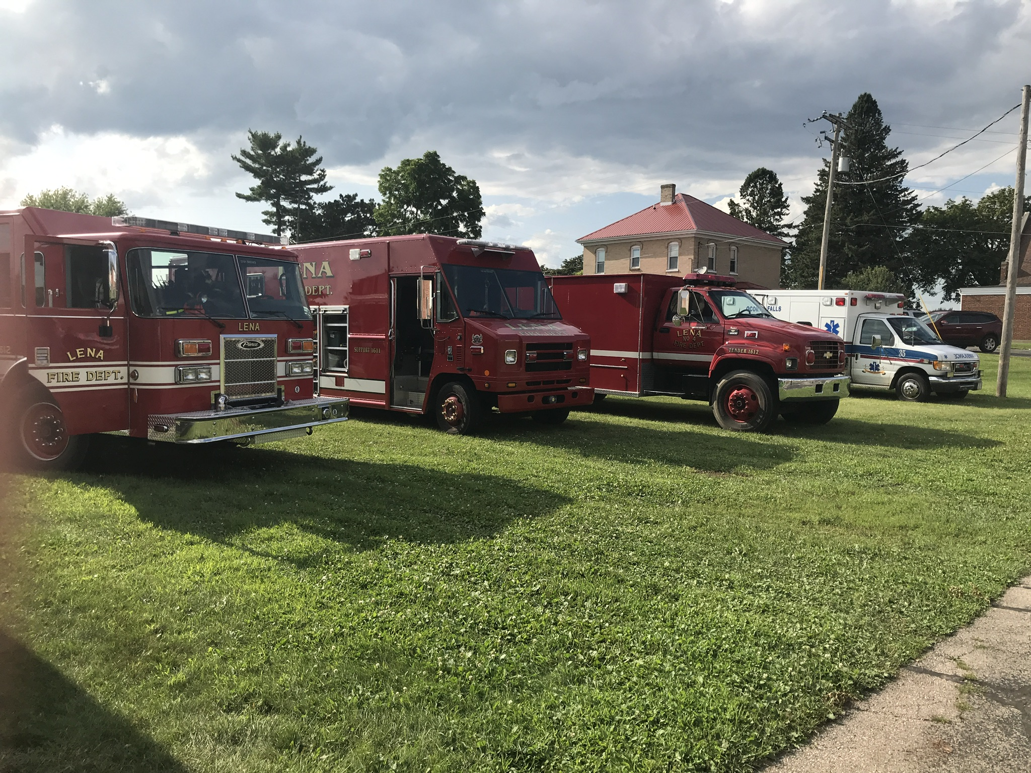Local police and fire departments and the State Patrol had vehicles on display.
