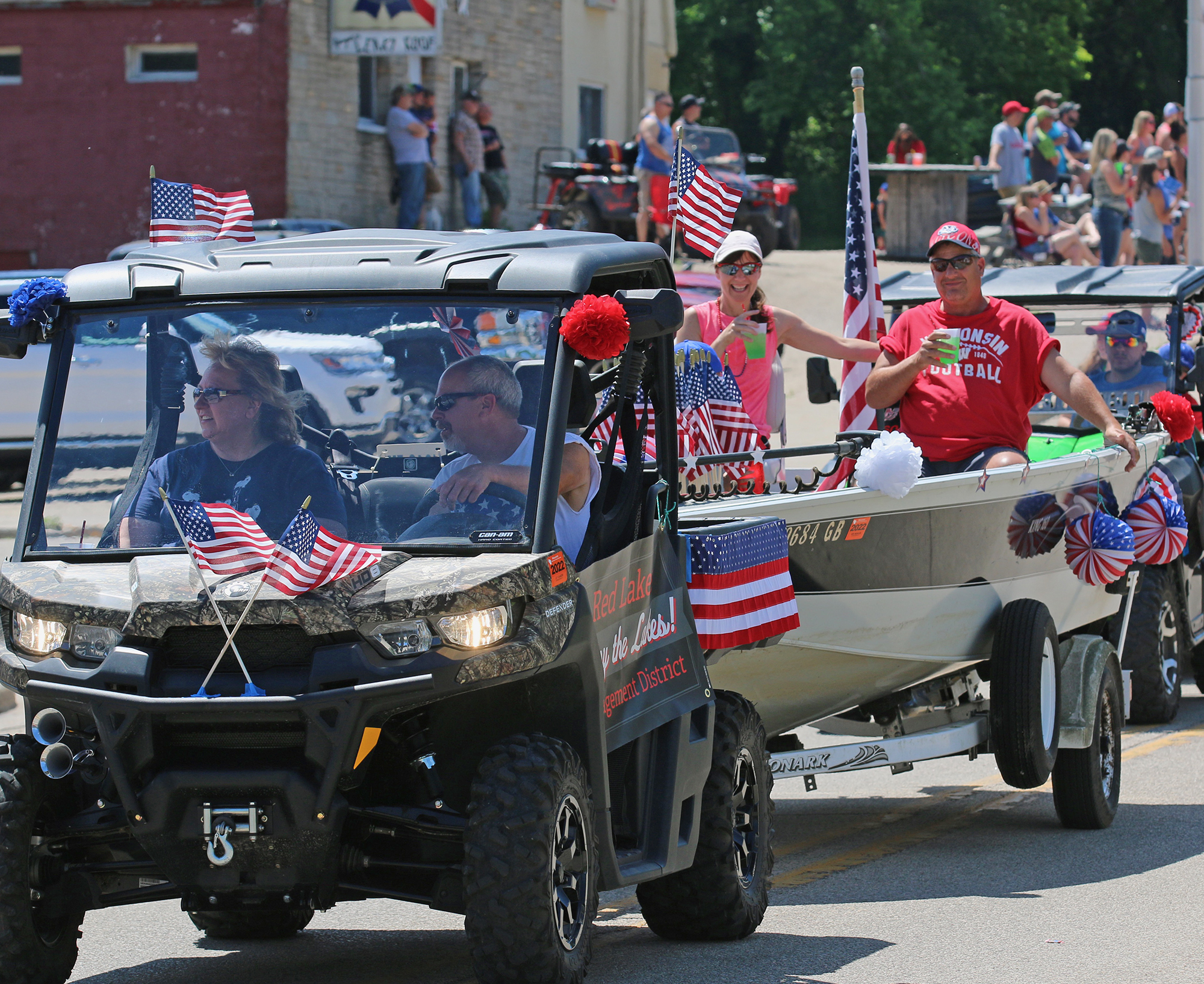 Members of the Red Lake Management District helped usher in summer with their entry in the Gresham Fourth of July celebration, held June 27 in downtown Gresham. The event included music and food, but children's activities were canceled. Carol Ryczek | NEW Media