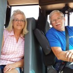Gene Lettau completes his training for driving a school bus for Wittenberg-Birnamwood School District. His wife, Terry, has been driving school bus for WBSD for 40 years. Miriam Nelson | NEW Media