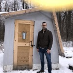 Zach Popp designed and produced enough Hempcrete-style blocks in his garage just east of Wittenberg to build his own greenhouse in January. MIRIAM NELSON | NEW MEDIA