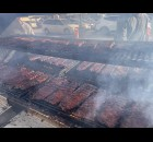 Steading lines and smoke filled the parking lot throughout the day Oct. 15. A full rack sold for $10.  Greg Mellis | NEW Media
