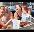 The whole intent was to get soaked, and participants in the annual Bamboo Bar boat sinking accomplished that Sunday afternoon at the bar's location on the south shore of Shawano Lake. The Bucket List family team took first place, $160; the Hot Ladies took the $100 second place prize and the Little Richards took third for $45. Teams of five completed in an effort to sink their opponent's aluminum row boats. The event has been cooling off boaters since the 1980s.  Carol Ryczek | NEW Media