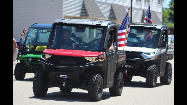 Members of the Western Shawano County ATV-UTV Riders Club drive their vehicles down Webb Street in Wittenberg for the Wittenberg Community Days parade held June 13. Although off-road vehicles like these are being welcomed in most communities in Shawano County, Shawano resident Shirley Hinze has a problem with them going on streets in the city, saying they're more appropriate for rural settings.  (Lee Pulaski | NEW Media)