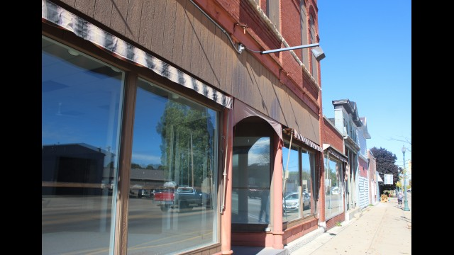 The 200 block of North Main Street in Shawano has been largely empty of businesses for about 18 years. Officials for the city, which recently purchased the buildings, believe three out of four of them can be renovated.  (Lee Pulaski | NEW Media)
