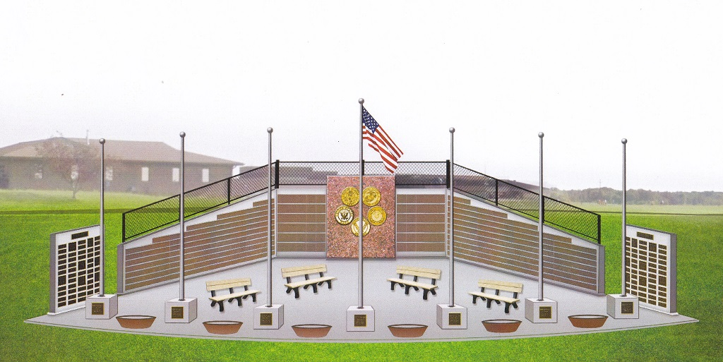 The original artist's rendering of the Oconto Falls Area Veterans Monument. (Contributed)