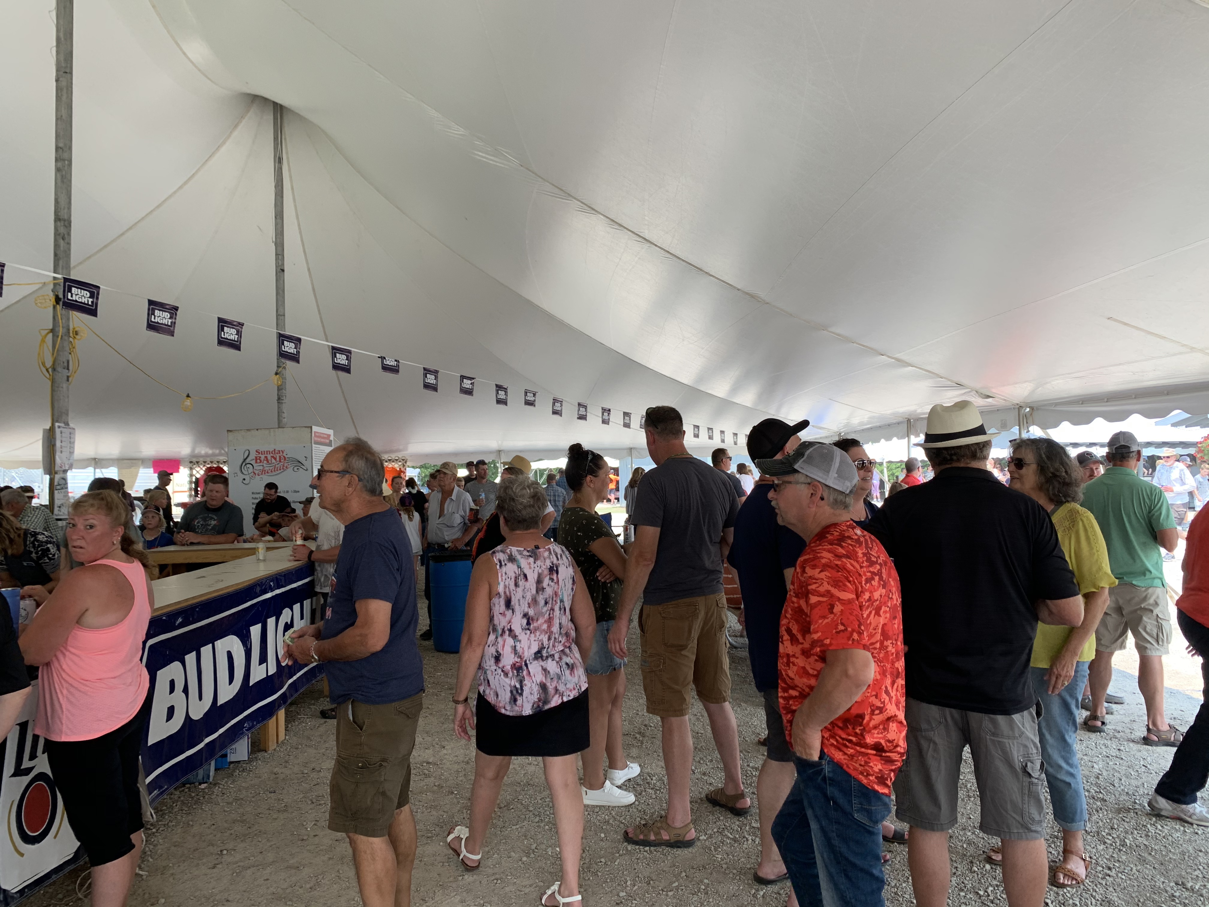 Other than polka music, visitors spent their time at the beer tent at Pulaski Polka Days on July 18.Luke Reimer   NEW Media