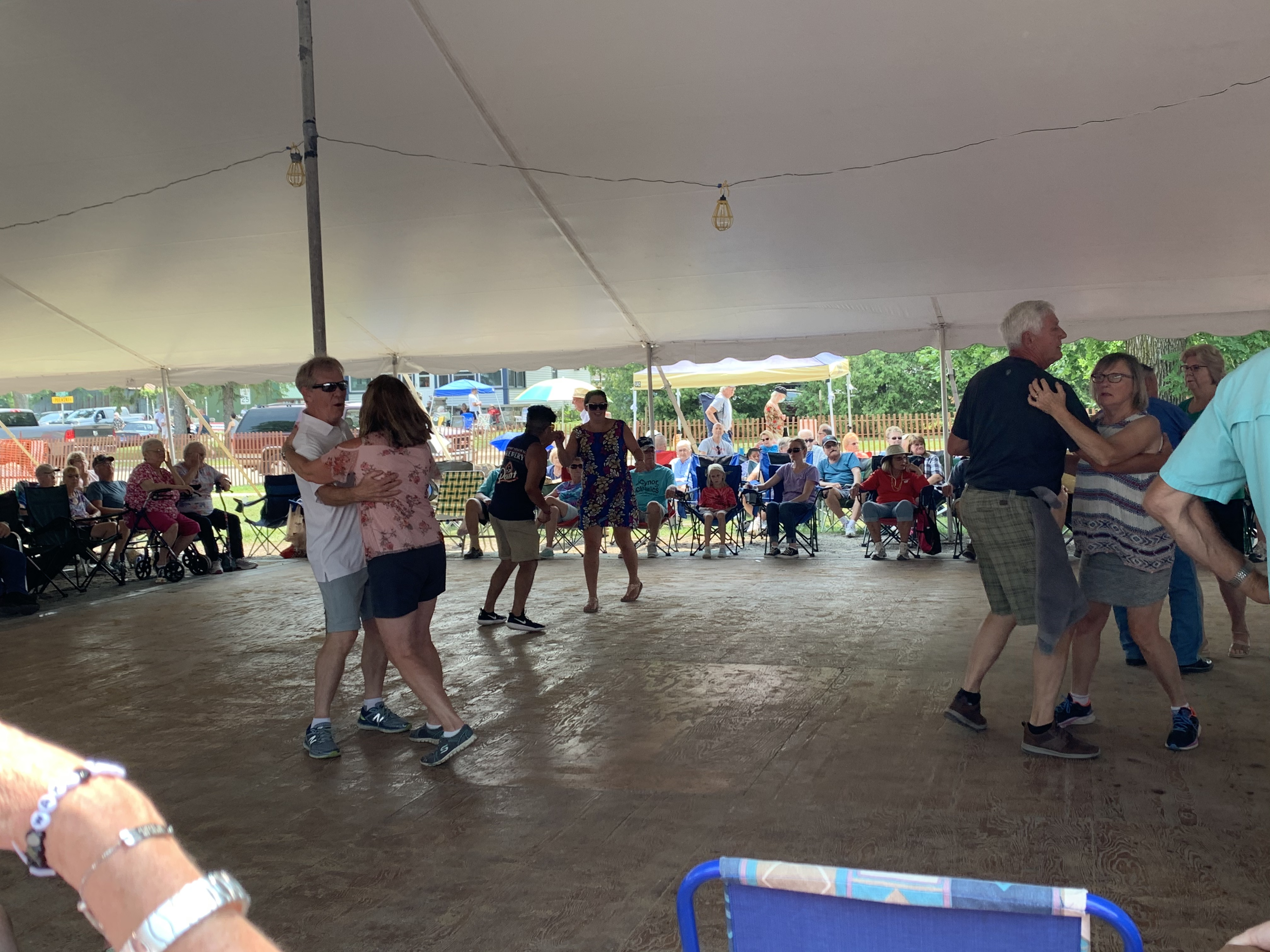 Visitors to Pulaski Polka Days packed the tents as polka music was played all day on the Polka Days Grounds on July 18.Luke Reimer   NEW Media