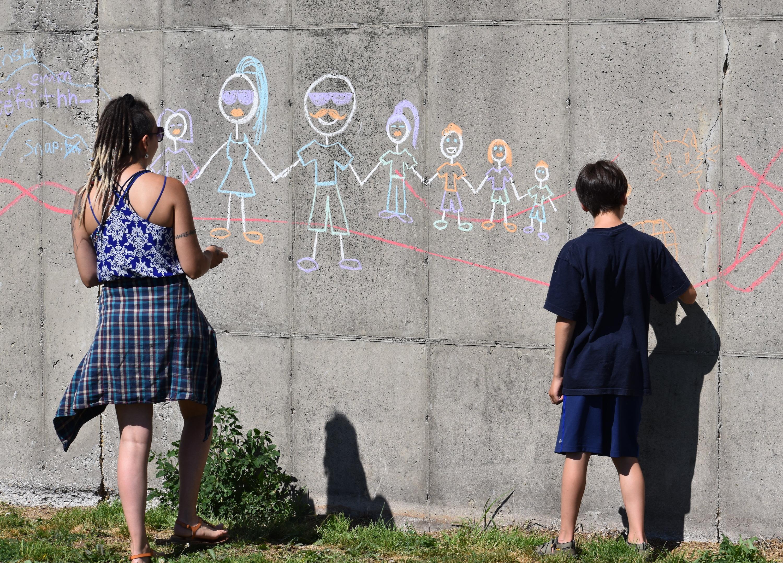 Suring FFA chalk drawing