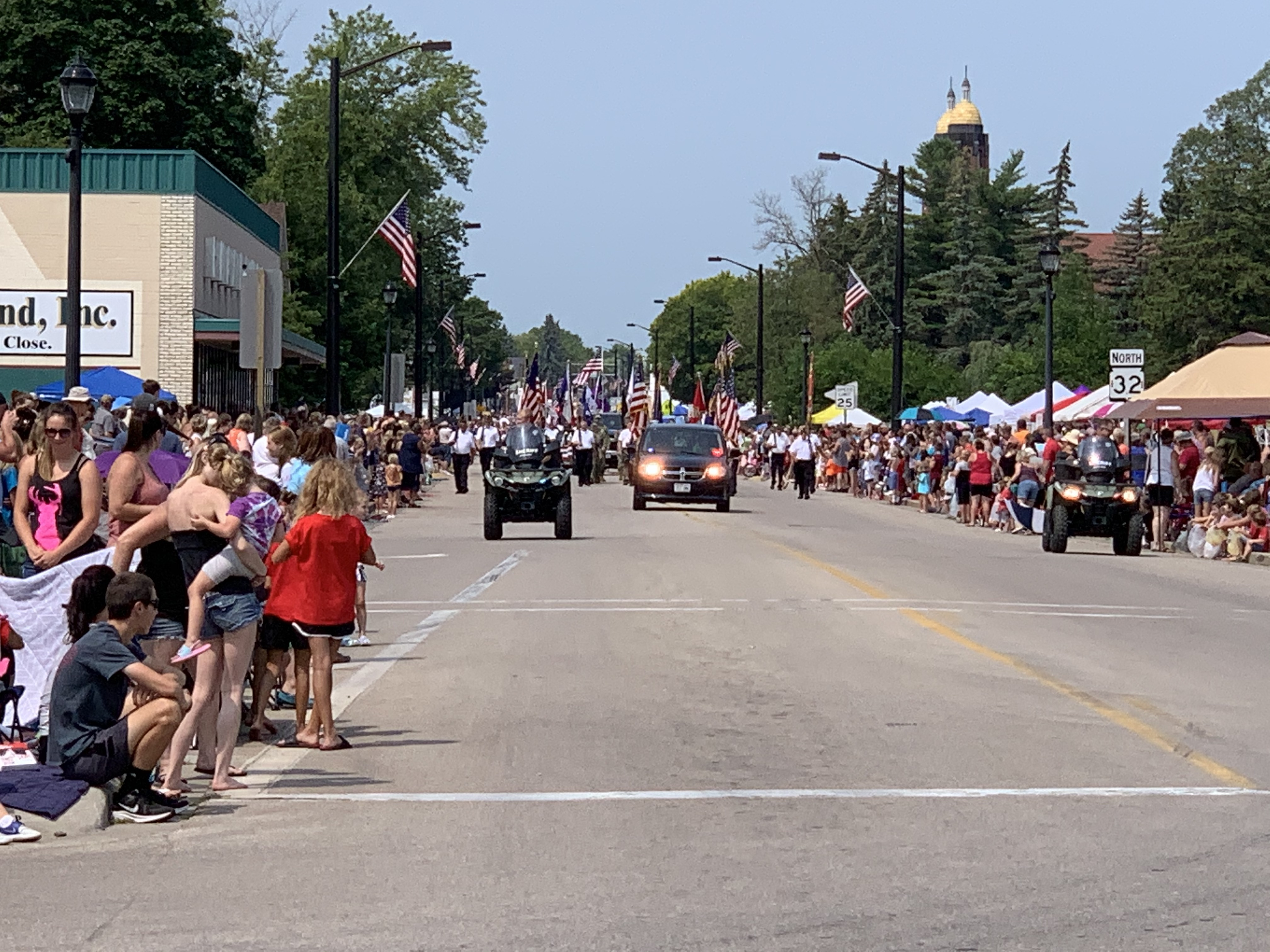 Many Pulaski residents and visitors packed Pulaski Street on July 18 in anticipation of the Polka Days Parade getting started.Luke Reimer   NEW Media