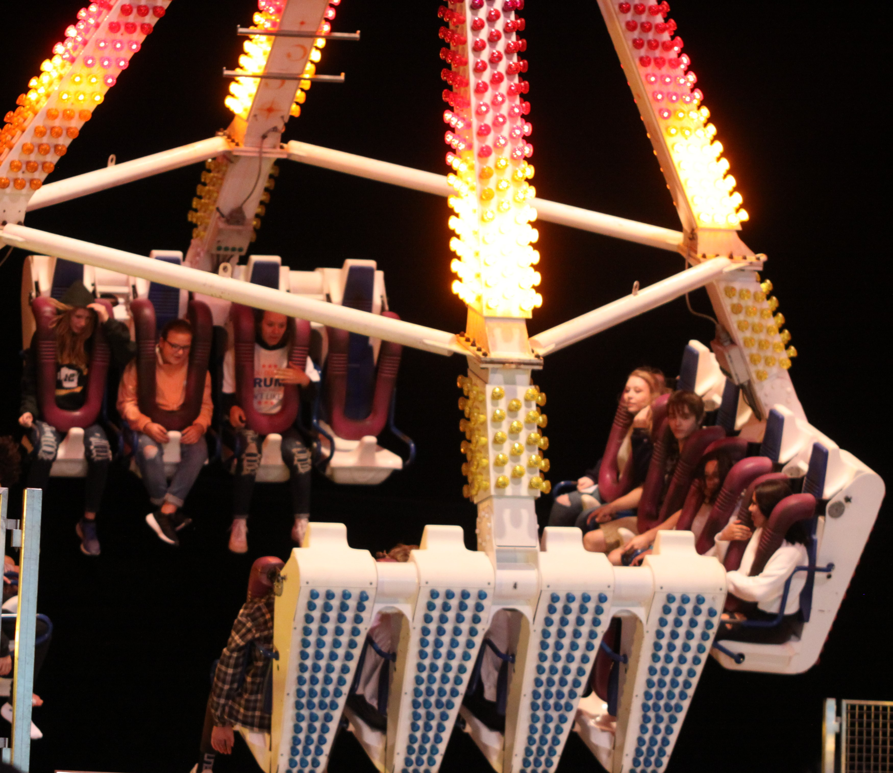Rides were jam packed on a cool Sept. 4 evening at the Shawano County Fair.<br />(Morgan Rode   NEW Media)