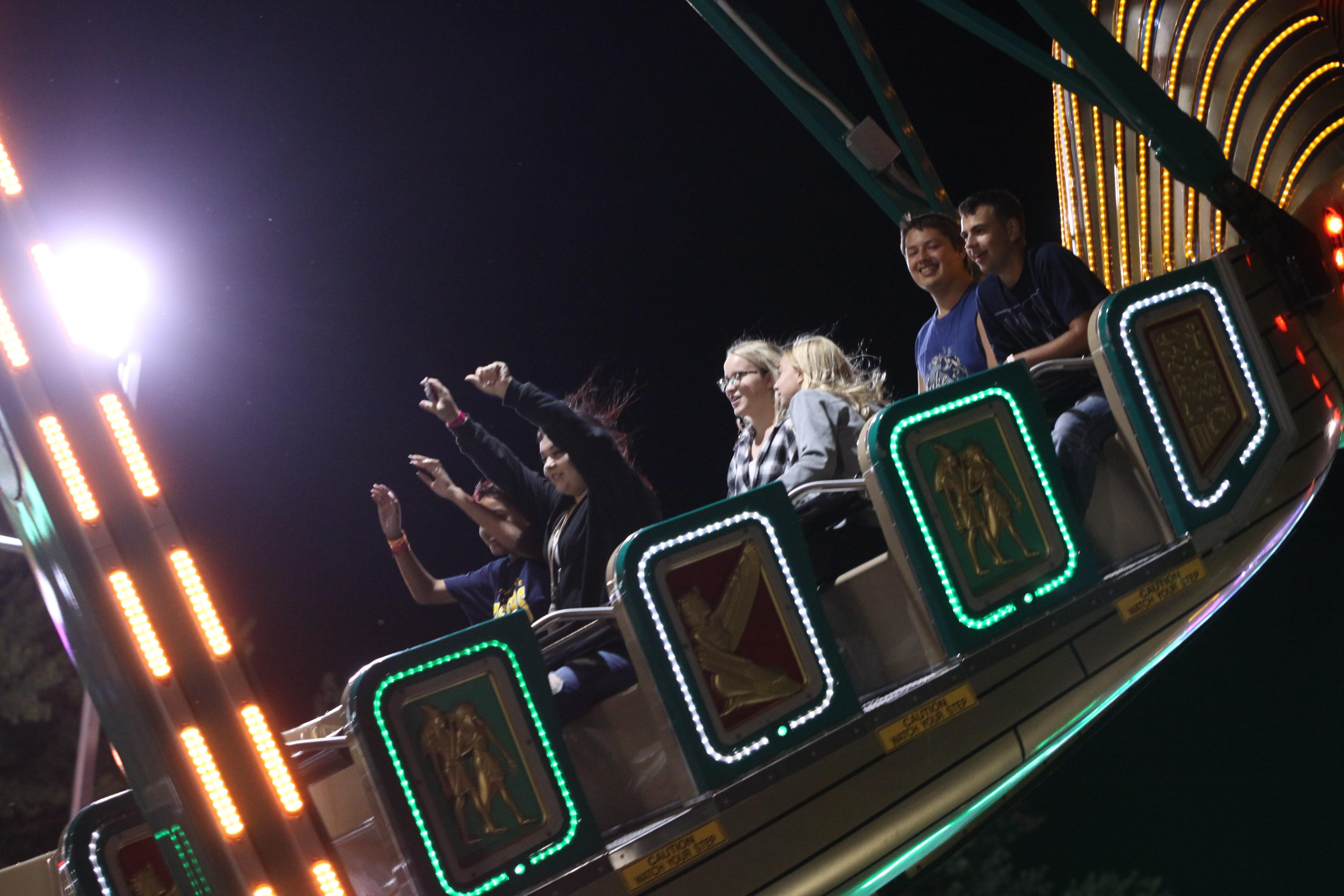 Visitors enjoy rides at the Shawano County Fair on Sept. 4.<br />(Morgan Rode   NEW Media)