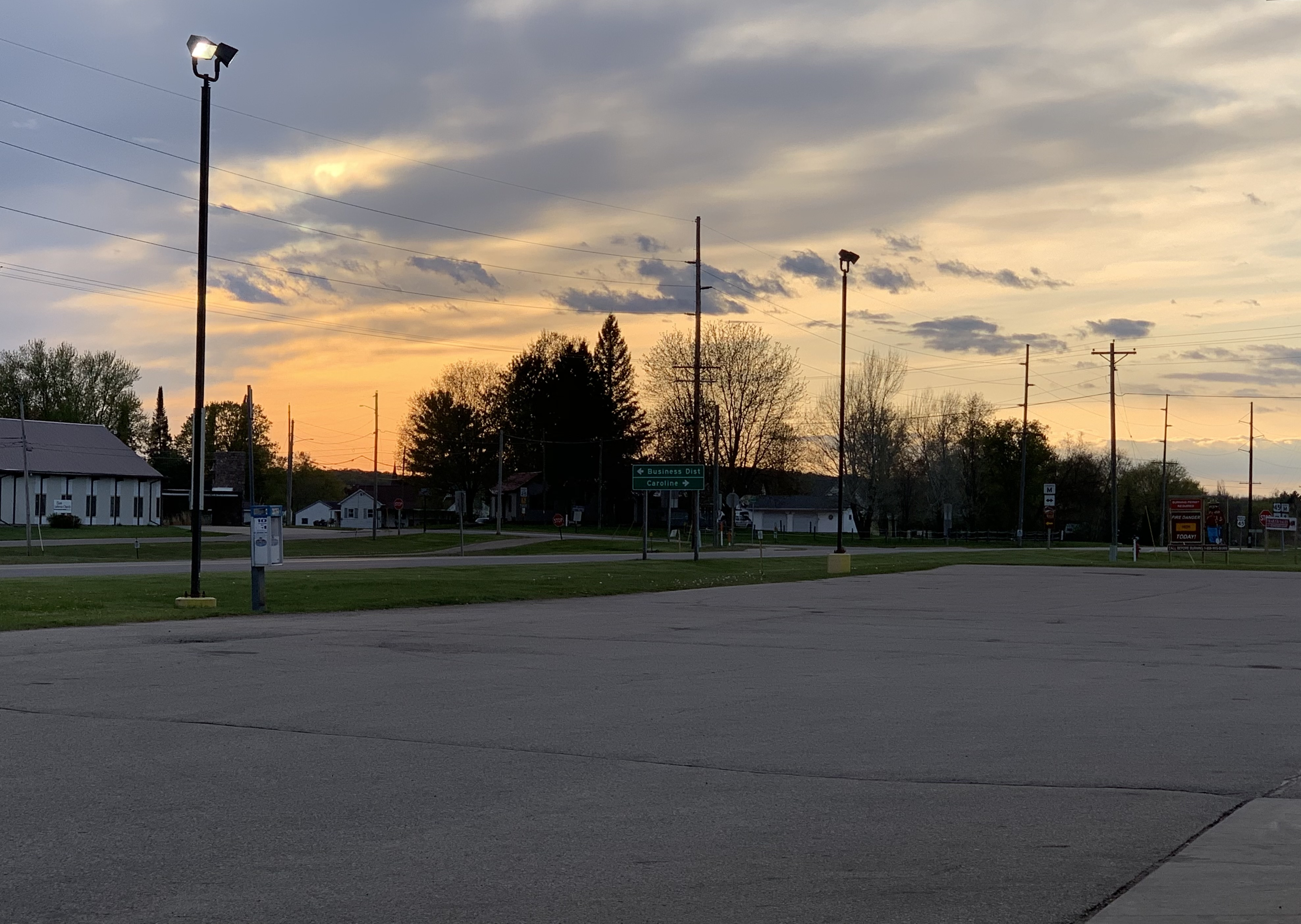 Light clouds and a bright sunset create a beautiful scene in Tigerton on the night of May 8.Luke Reimer | NEW Media