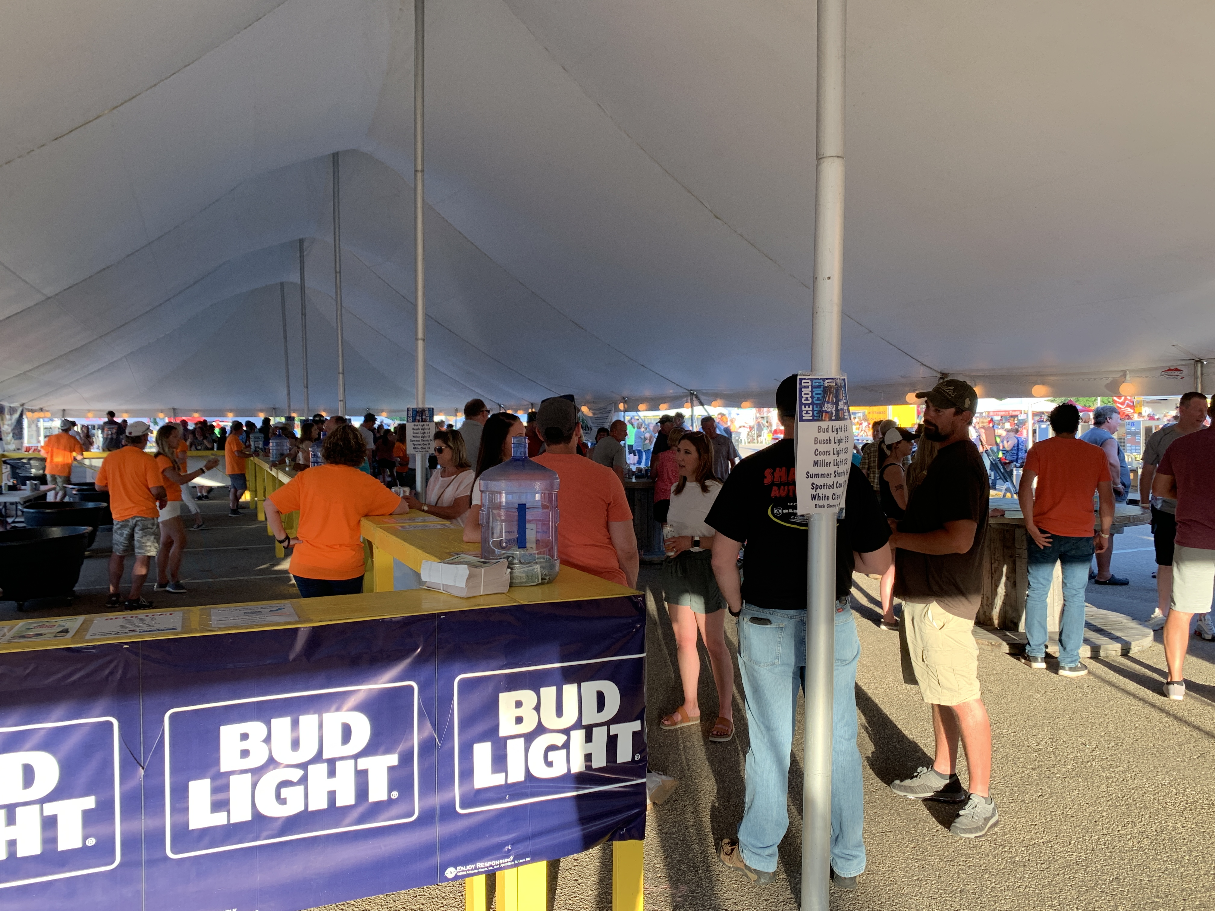 Other than the music stage, the beer tent was one of the most popular attractions for Shawano County residents at Sun Drop Dayz on June 5.Luke Reimer   NEW Media