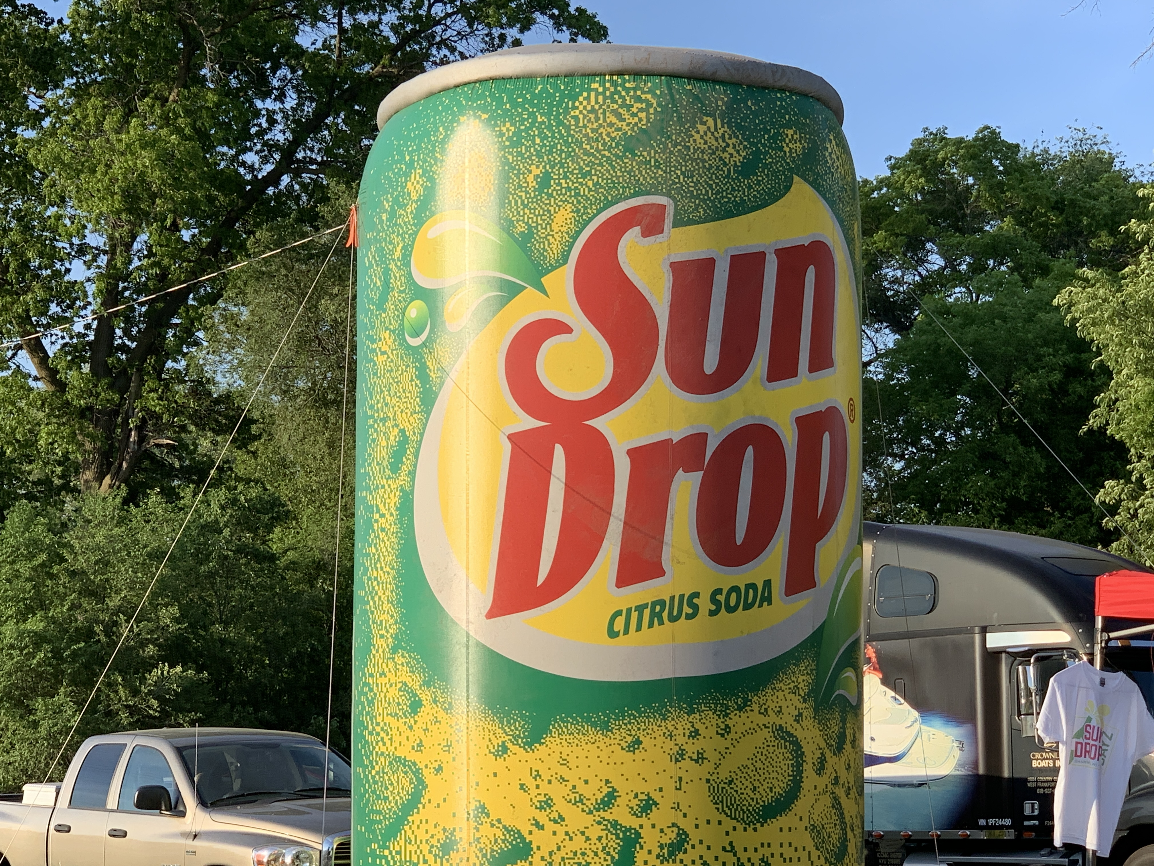A large inflatable Sun Drop can welcomes visitors to Memorial Park on June 5.Luke Reimer   NEW Media