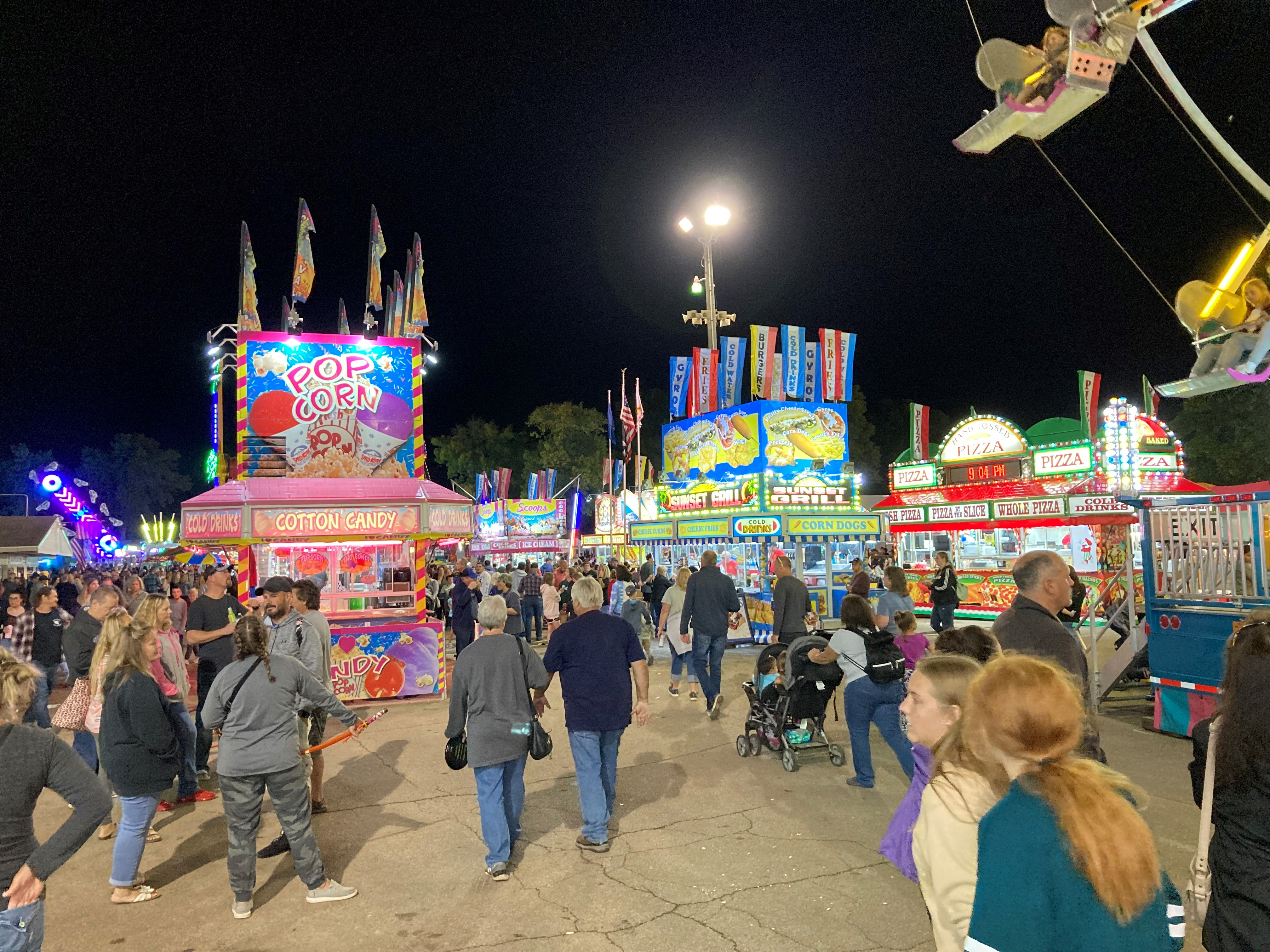 Visitors packed the food vendor section of the Shawano County Fair on Sept. 4.<br />(Morgan Rode   NEW Media)