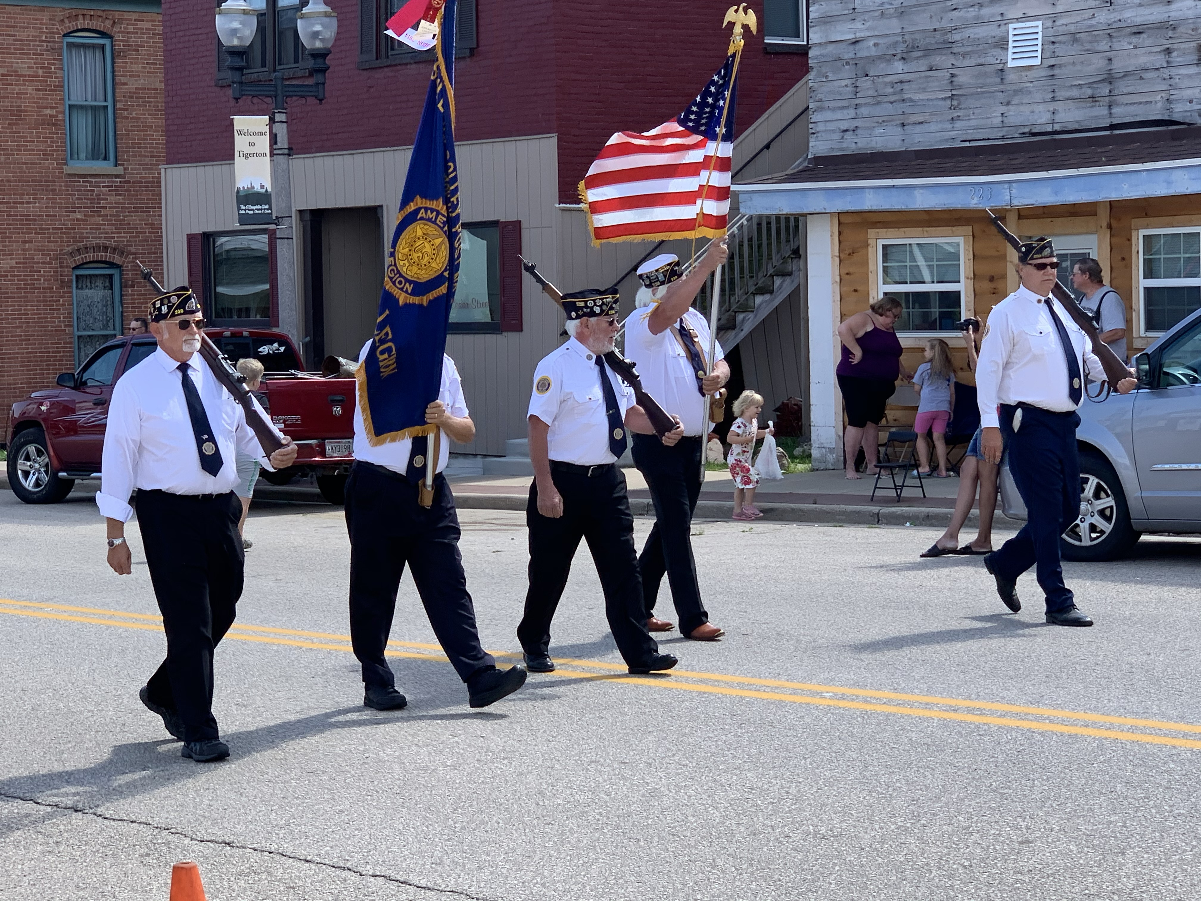 Members of the American Legion wave to those who attended the annual Lumberjack Days parade Aug. 29.Luke Reimer | NEW Media