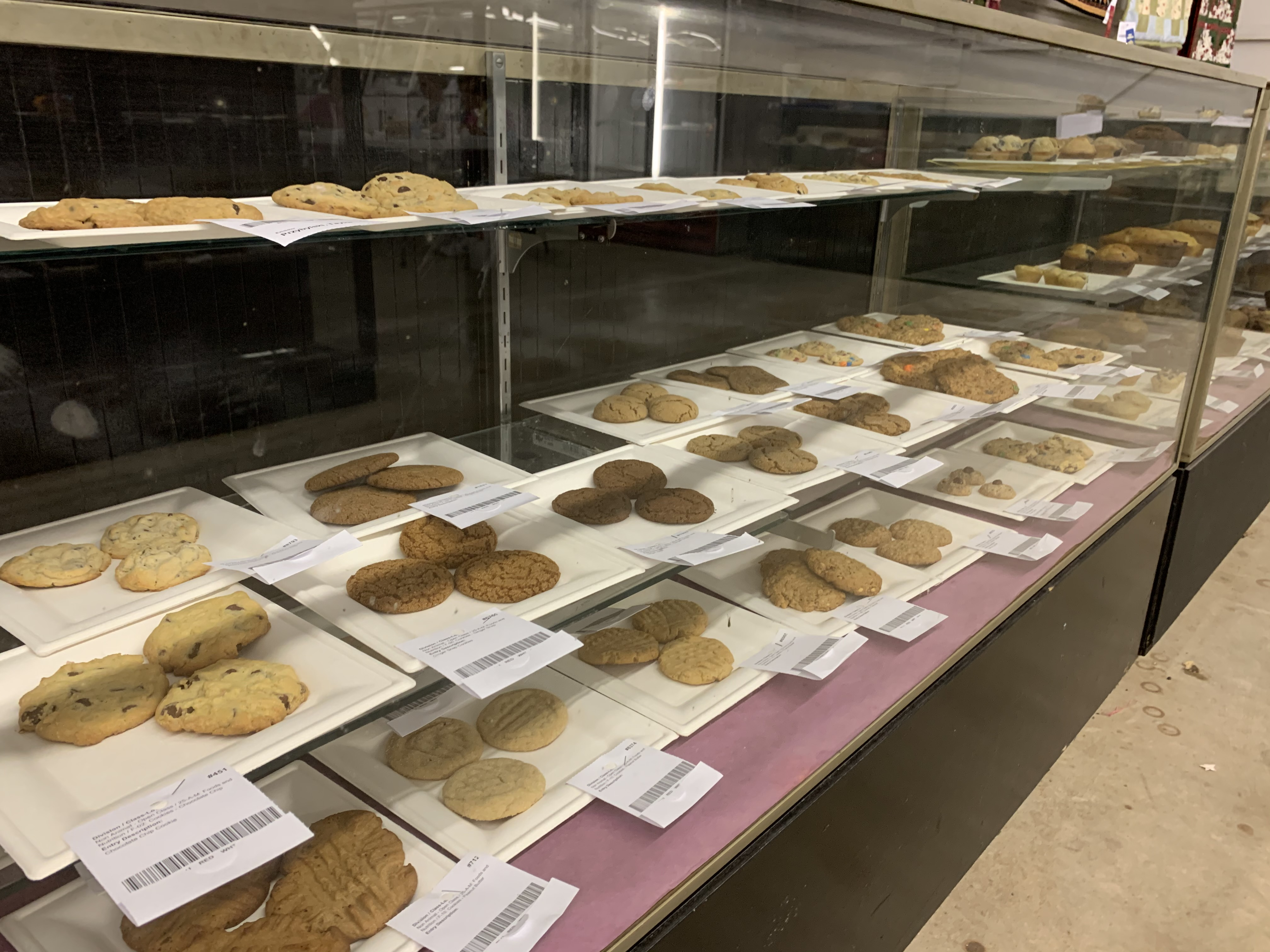 Many different varieties of cookies were submitted for judging during the food and nutrition preservation contest at the Shawano County Fair.(Luke Reimer   NEW Media)