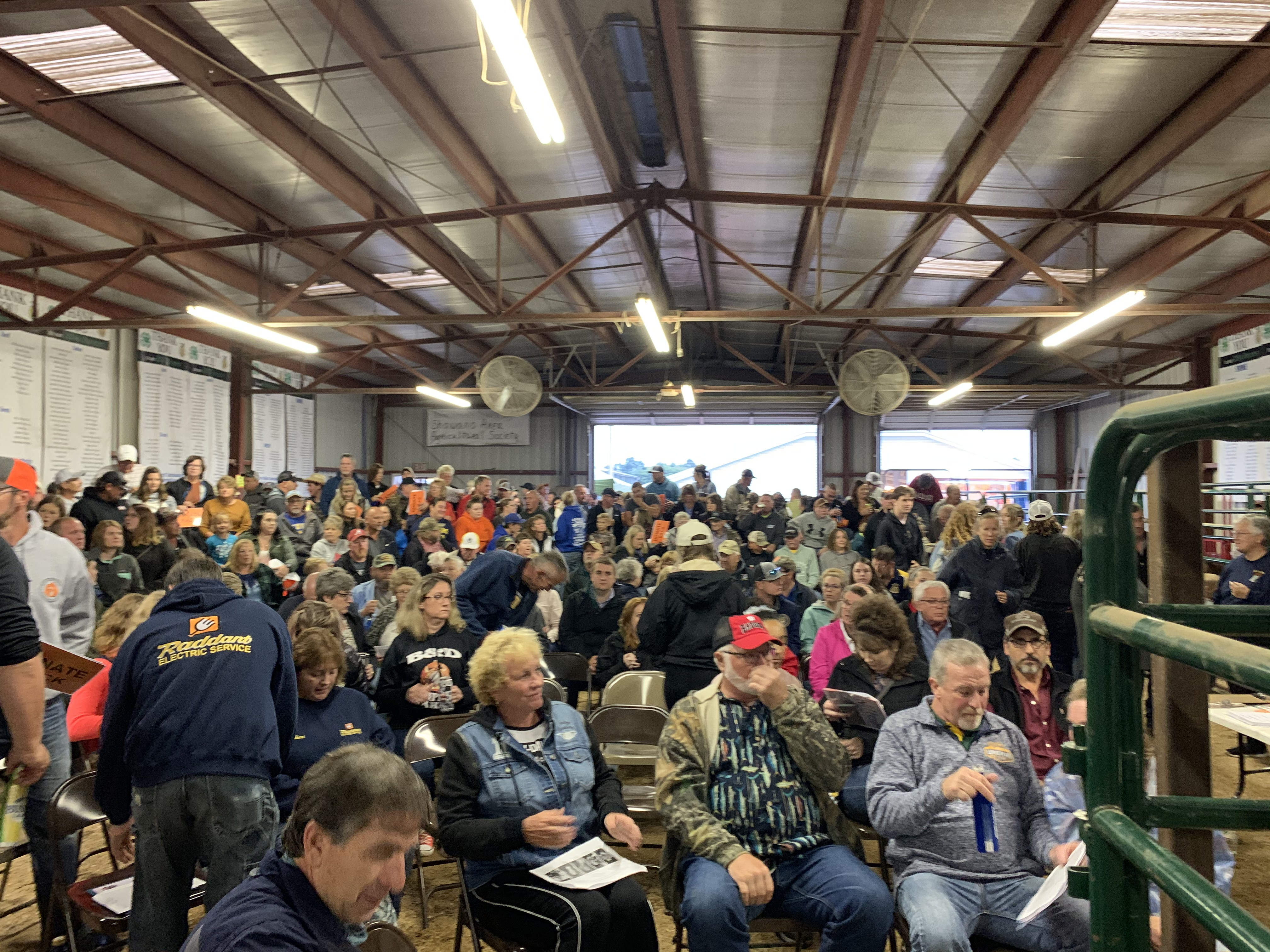 The Coliseum was packed with visitors that wanted to bid on livestock at the Shawano County Fair during the livestock auction on Sept. 3.Luke Reimer | NEW Media
