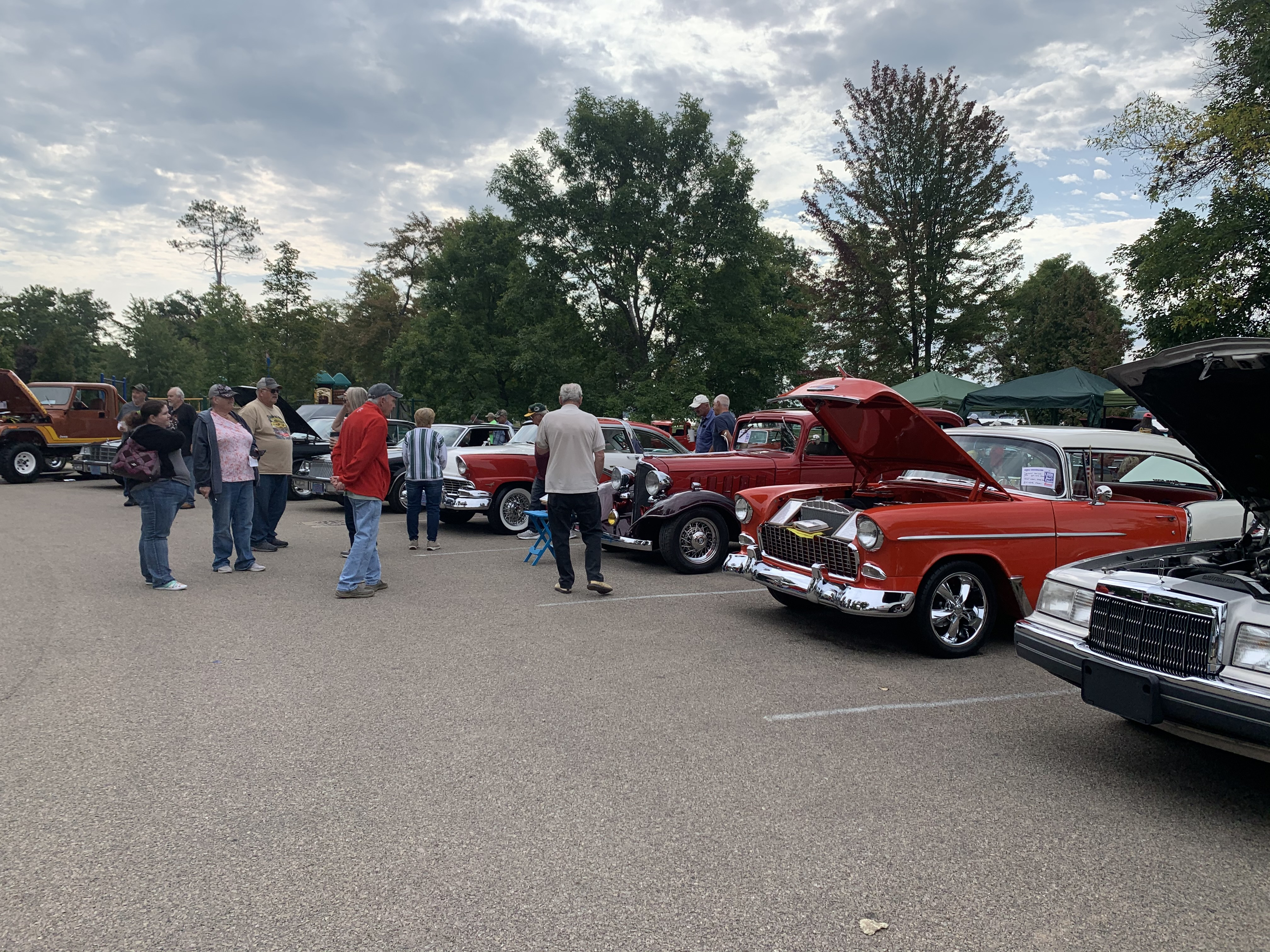 Crowds of people pack Shawano County Park on Sept. 12 to look at and show off different styles of cars at the car show.Luke Reimer | NEW Media