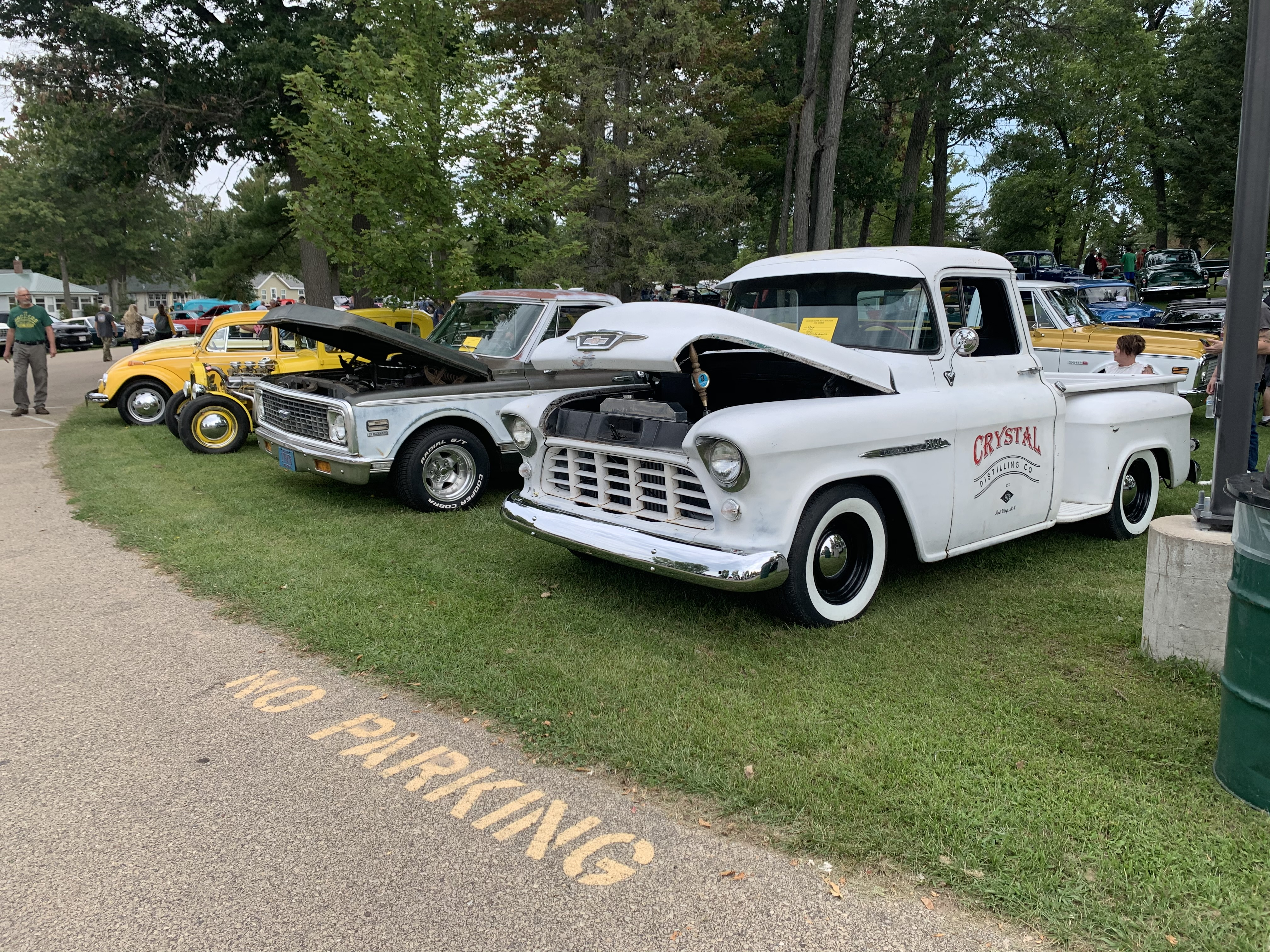 Trucks and cars alike were stationed with their hoods and doors open for visitors to check them inside and out at the Sept. 12 car show at Shawano Lake County Park.Luke Reimer | NEW Media
