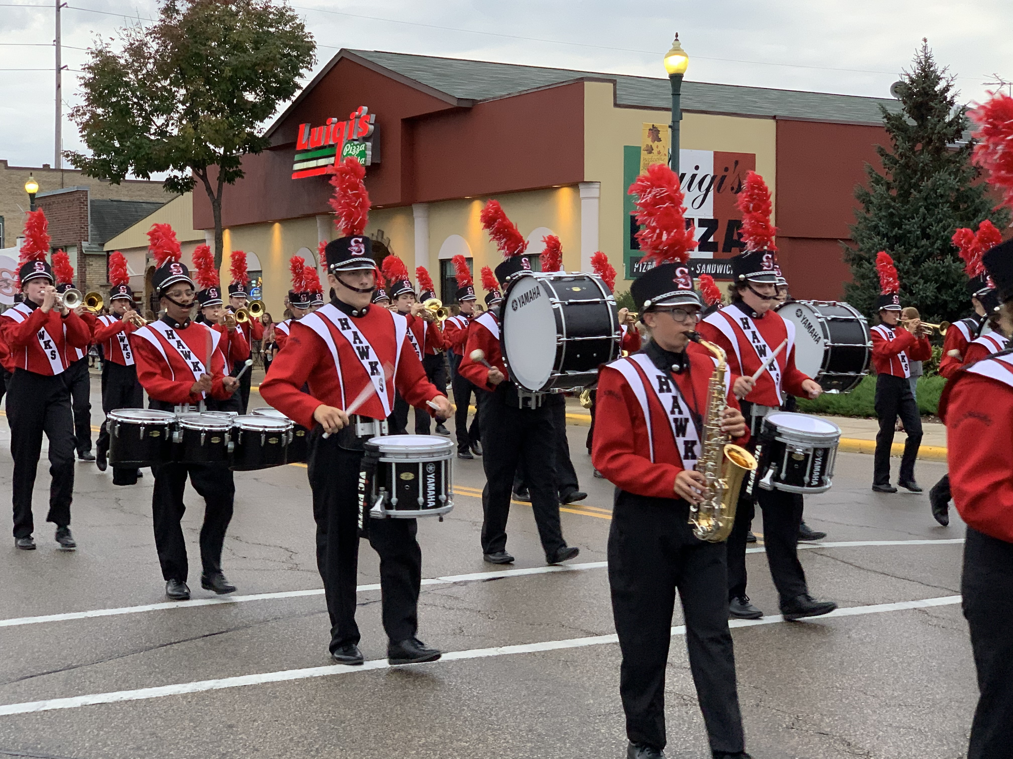 Members of the Shawano Community High School band provide visitors with music as they march down Main Street in Shawano on Sept. 24.Luke Reimer | NEW Media