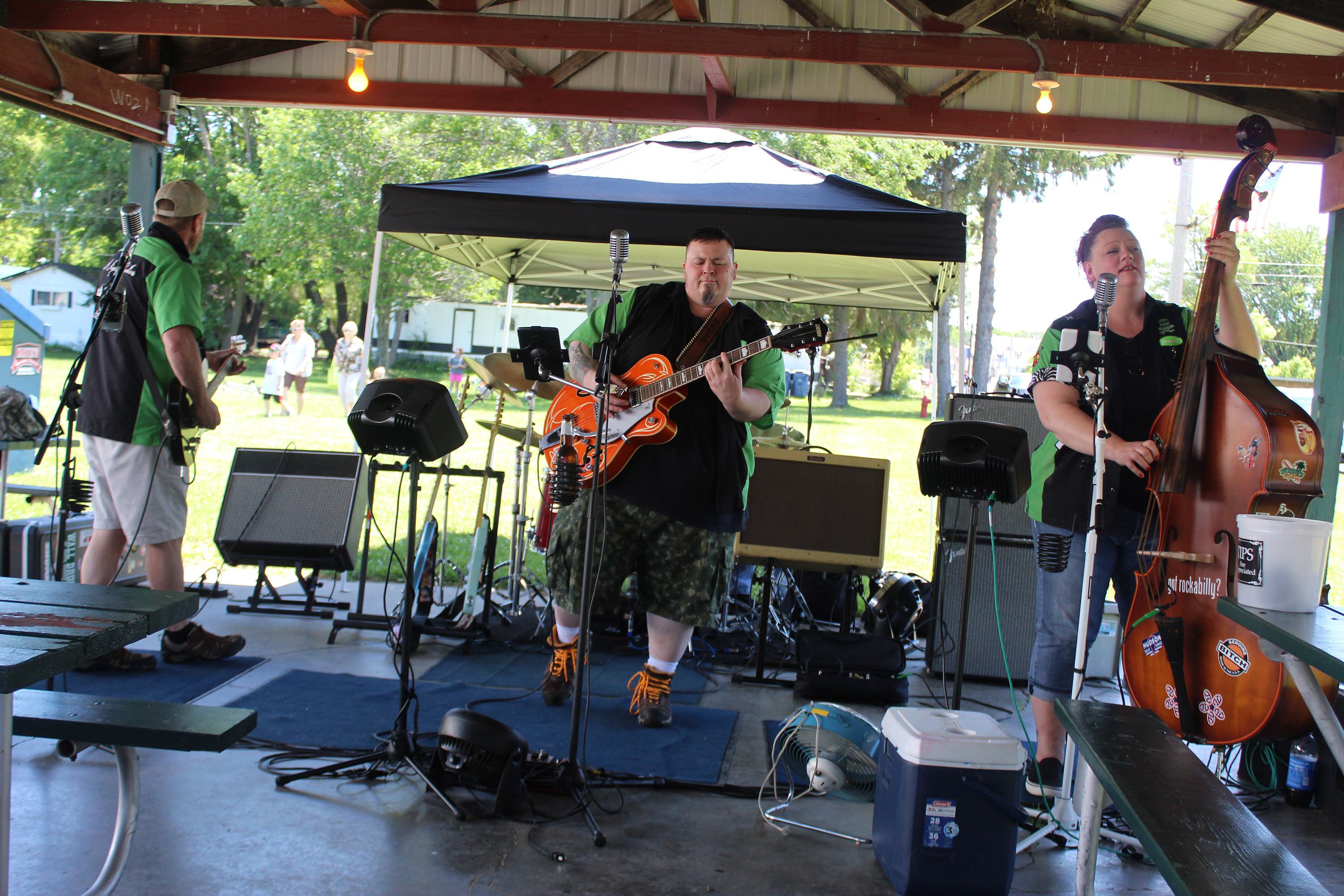 The Nightcrawlers perform a set on June 13 at Washington Park to entertain the crowd for Wittenberg Community Days.(Lee Pulaski   NEW Media)
