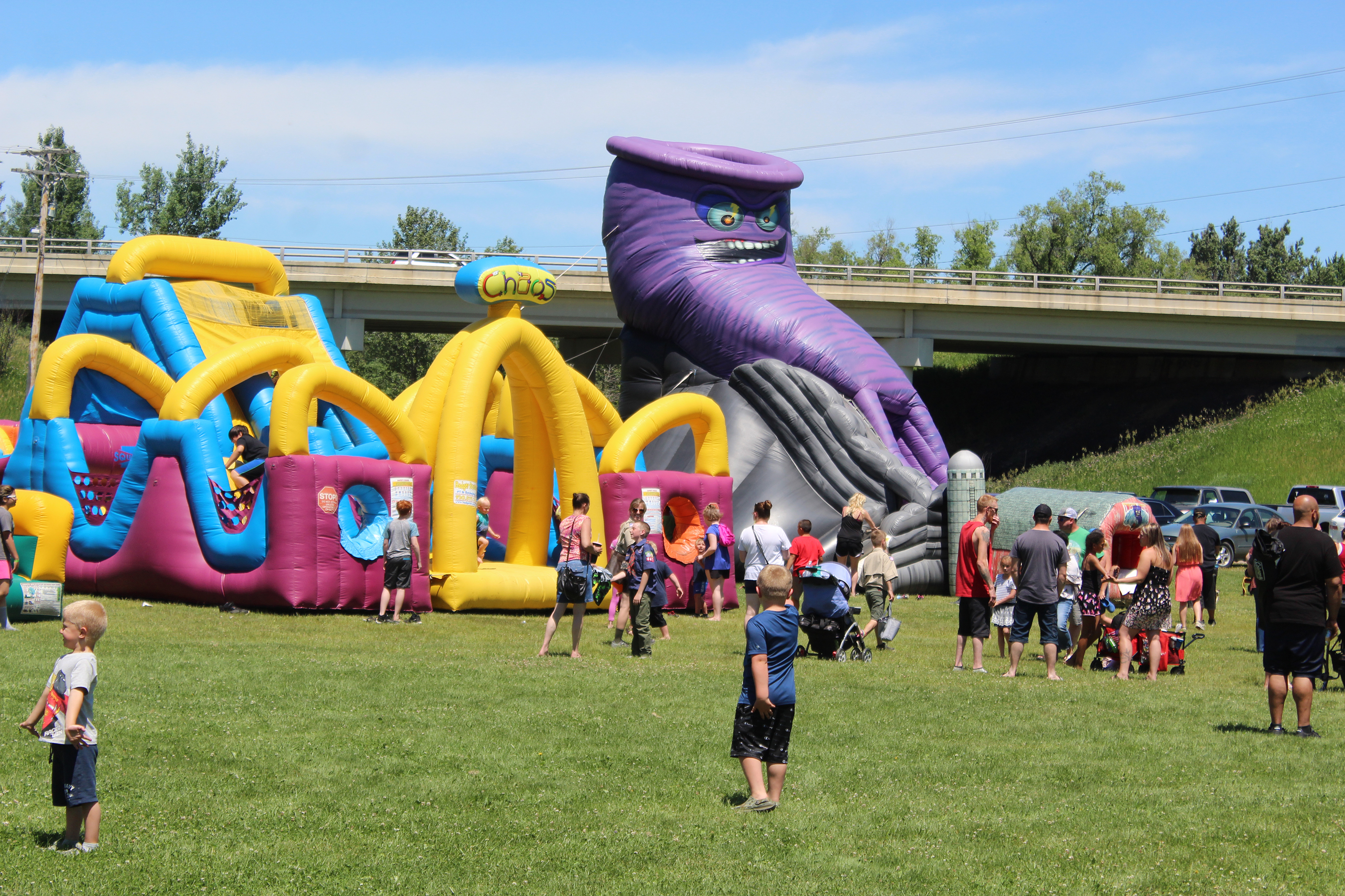 There were plenty of things, like bouncy houses, to keep children entertained during Wittenberg Community Days, held June 12-13 at Washington Park.(Lee Pulaski   NEW Media)
