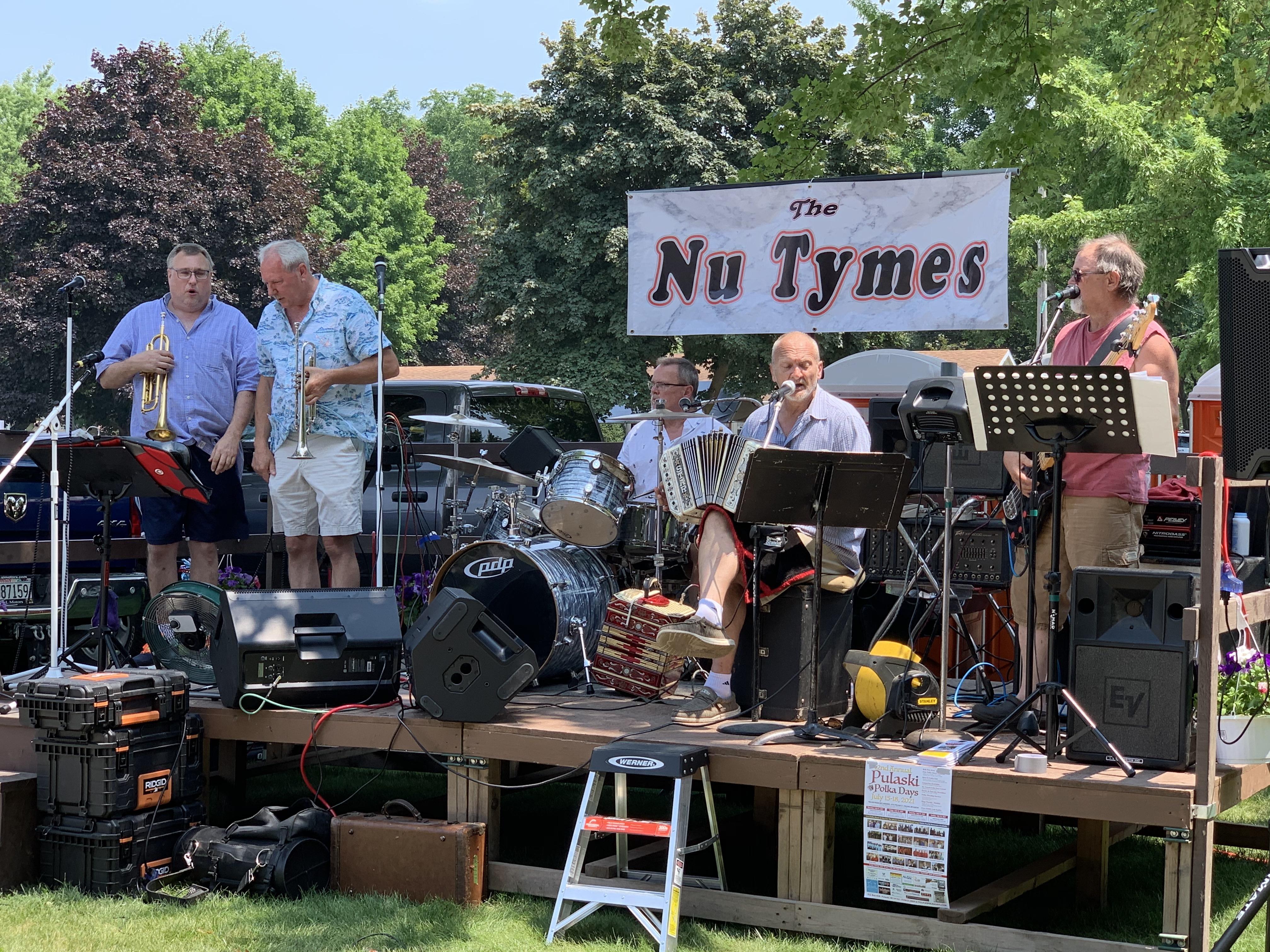 Nu Tymes provides visitors with polka music at Village Park in Bonduel on July 4.Luke Reimer | NEW Media