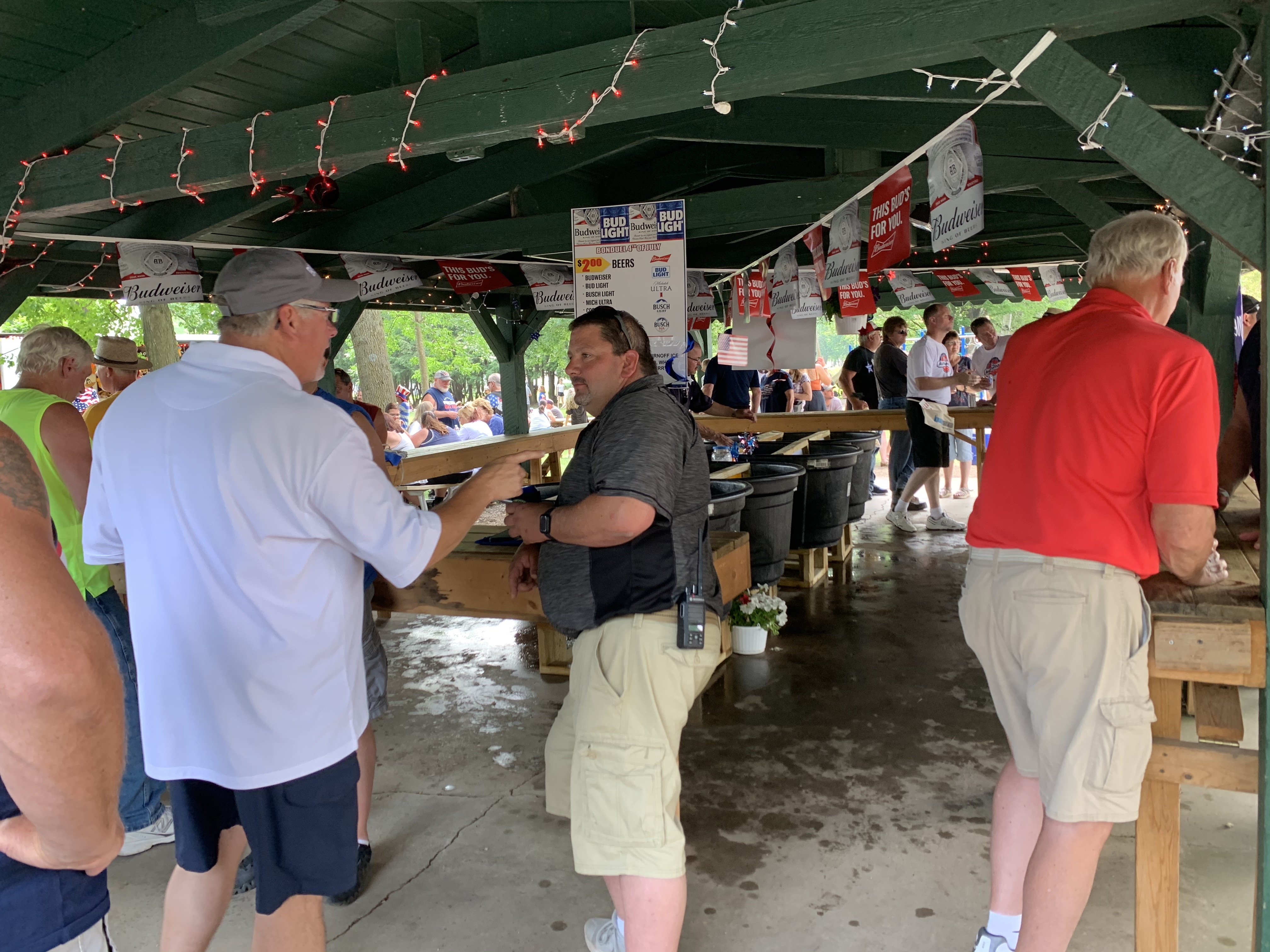 One of the most popular attractions at Village Park in Bonduel was the beer tent. Many visitors caught up with each other over a cold beverage July 4.Luke Reimer | NEW Media