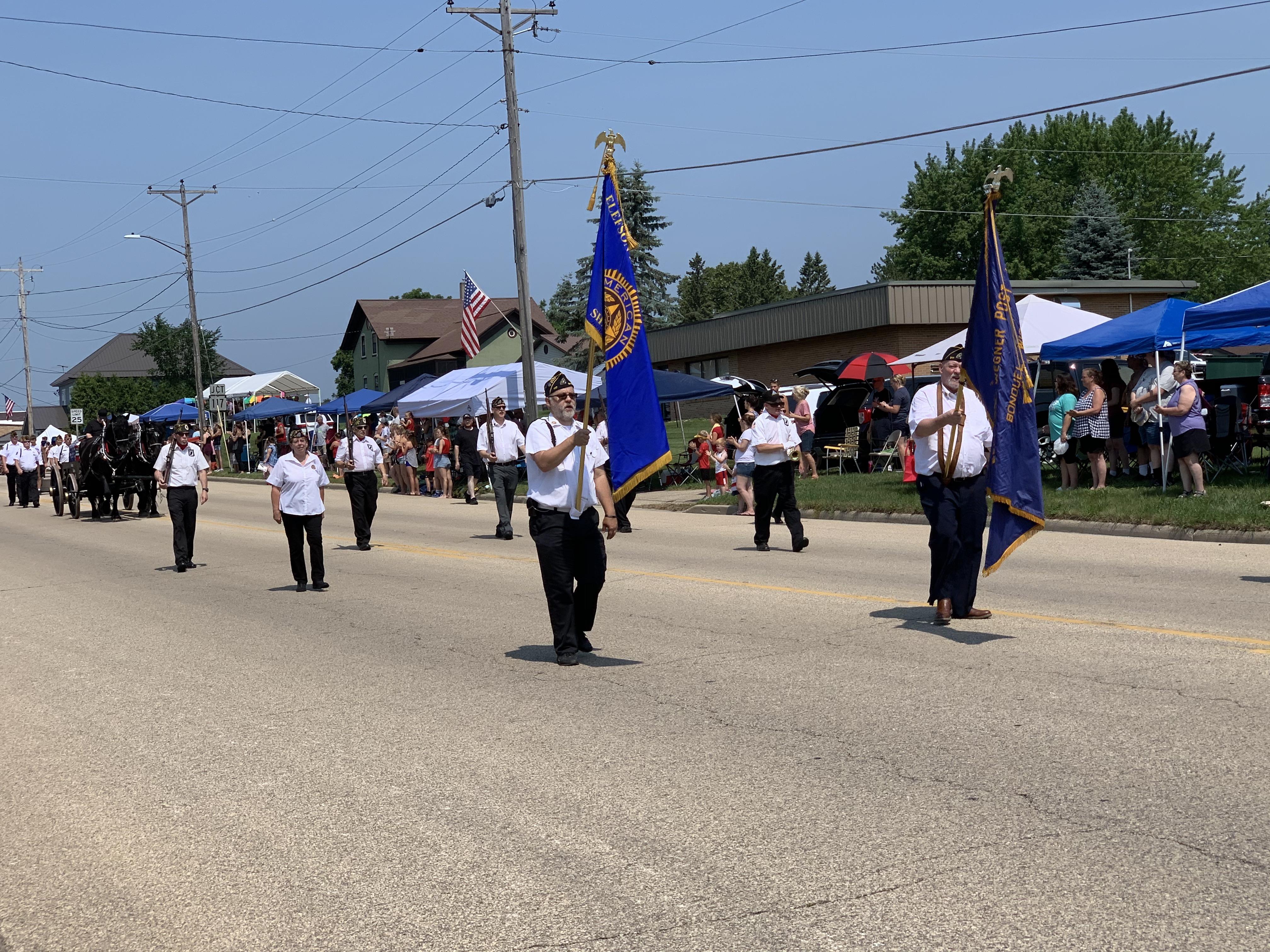 American Legion members lead the parade along Green Bay Street in Bonduel on July 4.Luke Reimer | NEW Media