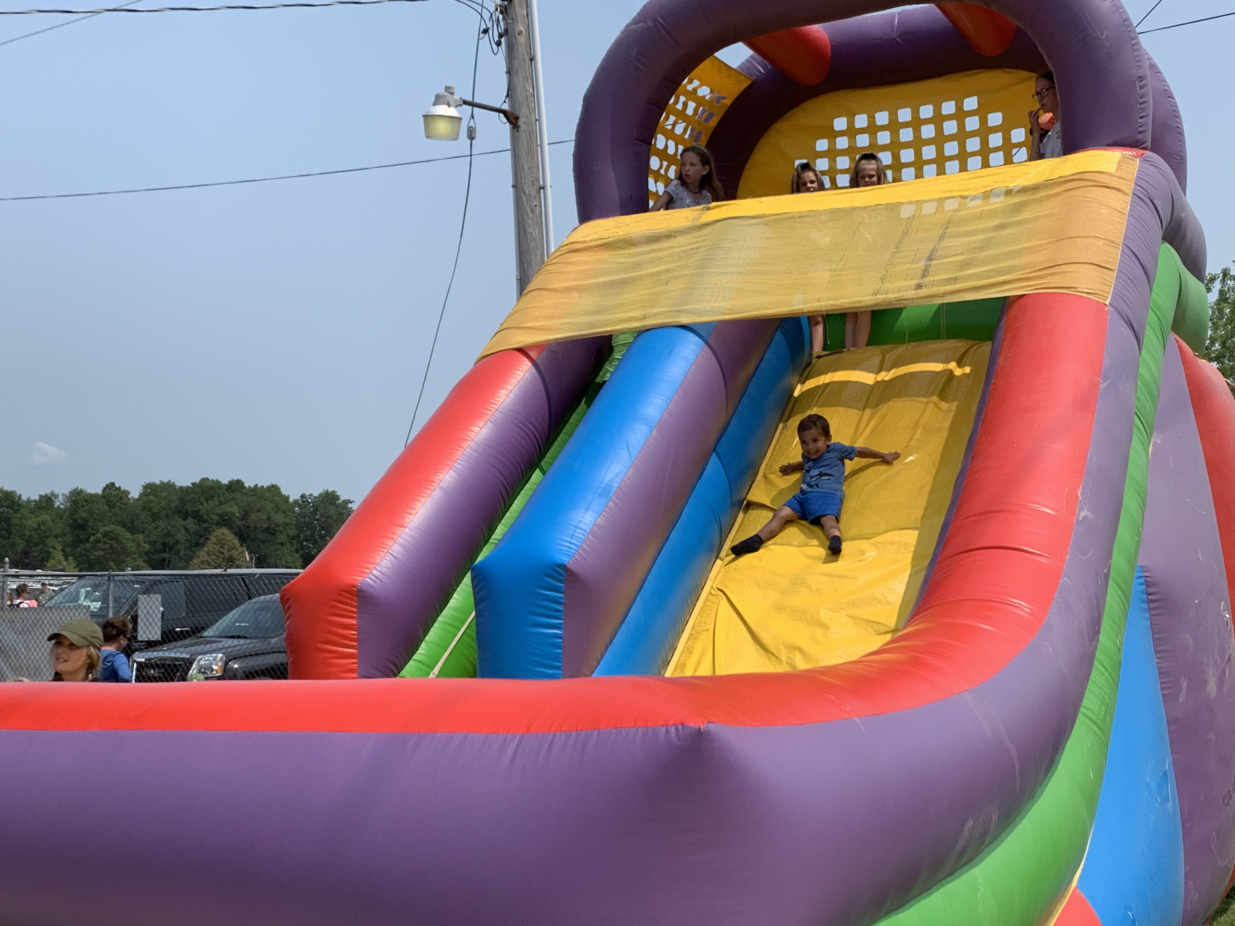 Children were given the opportunity to slide down inflatable slides in the children area at the Polka Days Grounds on July 18.Luke Reimer   NEW Media