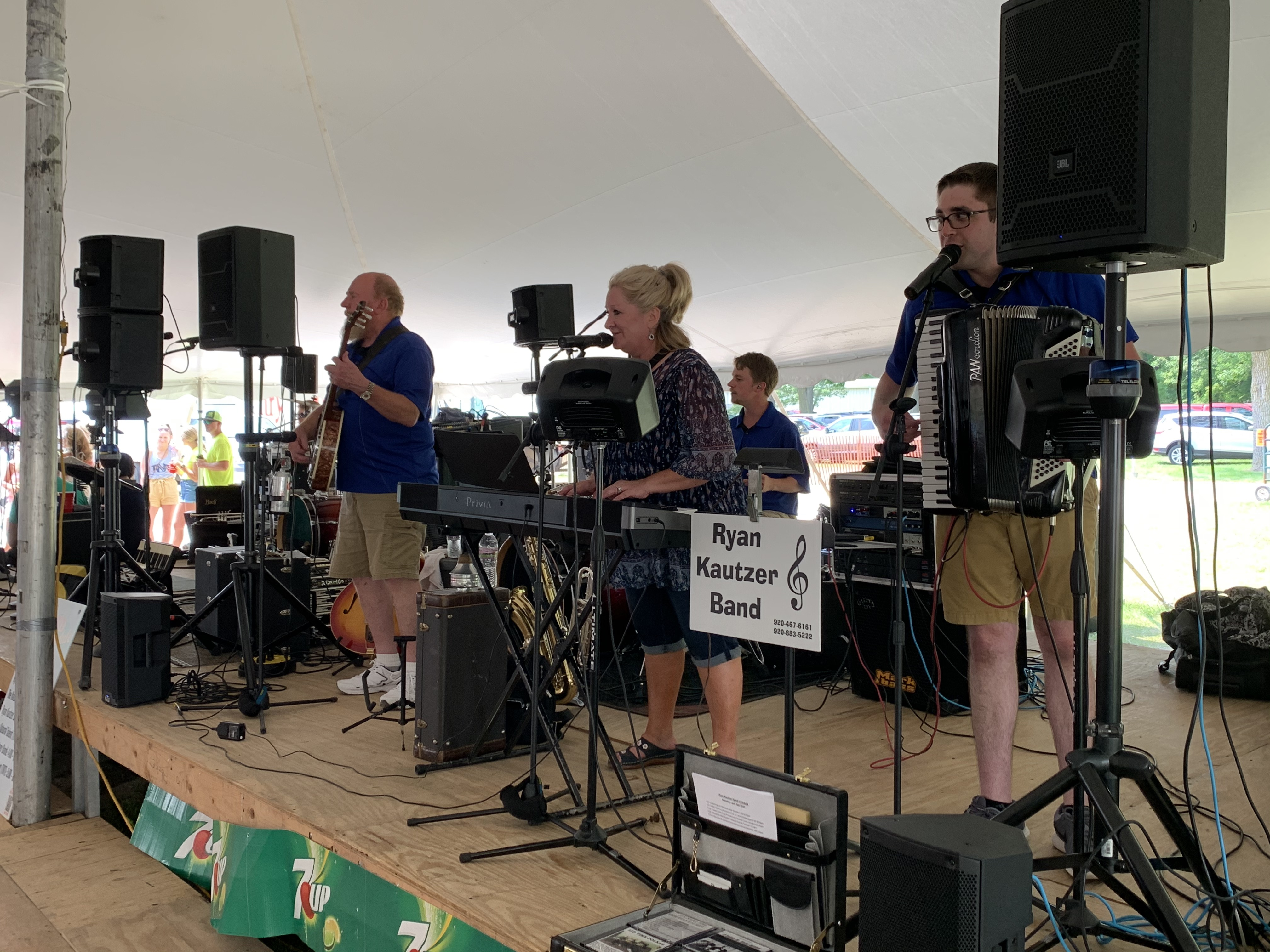 The Ryan Kautzer Band kicked off the music at Tent 2 on July 18 as they began playing right after the parade ended.Luke Reimer   NEW Media