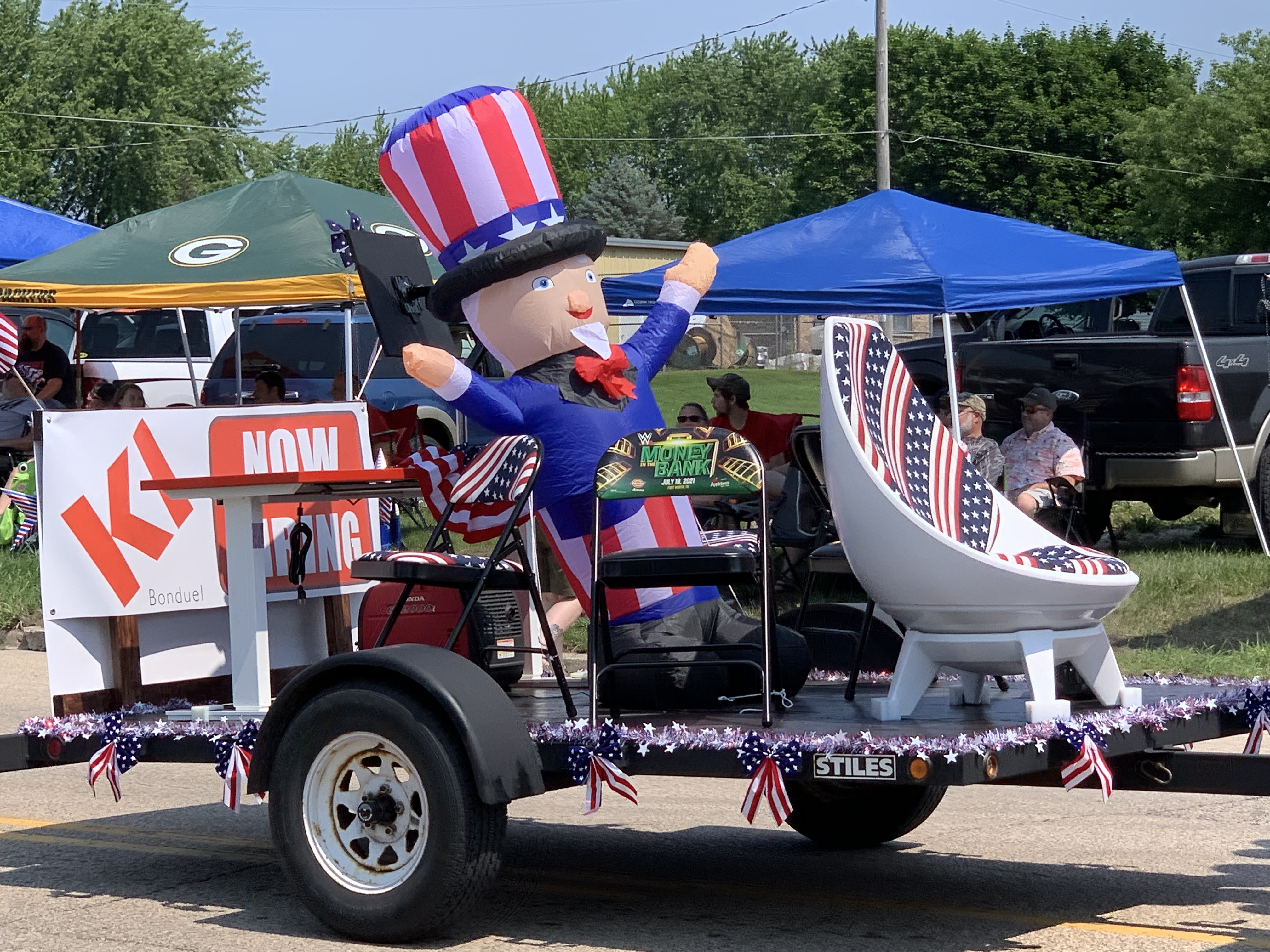 An inflatable Uncle Sam was one of the spectacles of the parade in Bonduel as it passed down Green Bay Street on July 4.Luke Reimer | NEW Media