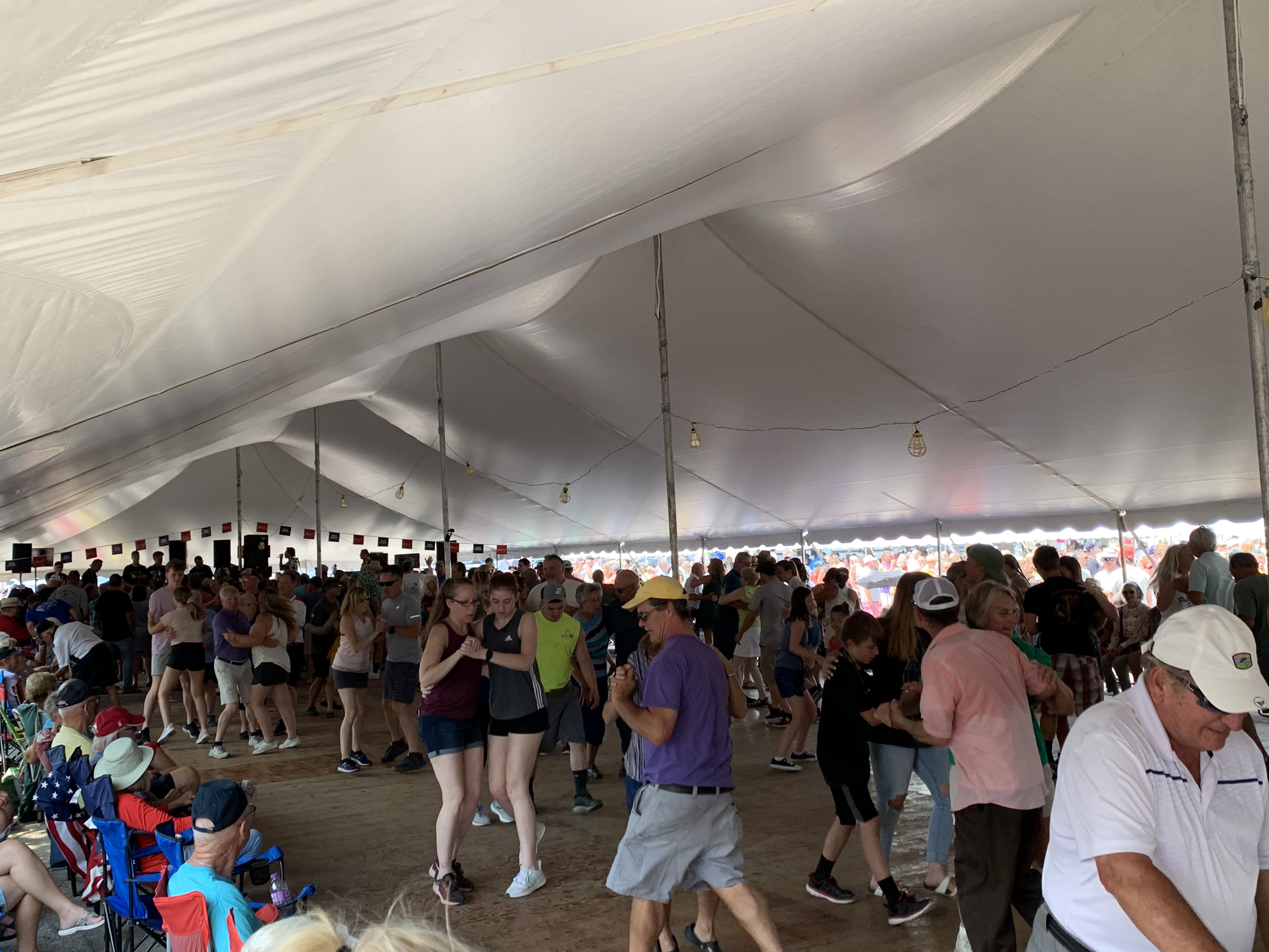 Tent 1 is packed with many different duos as they dance to the music of the Polka Family band on July 18.Luke Reimer   NEW Media