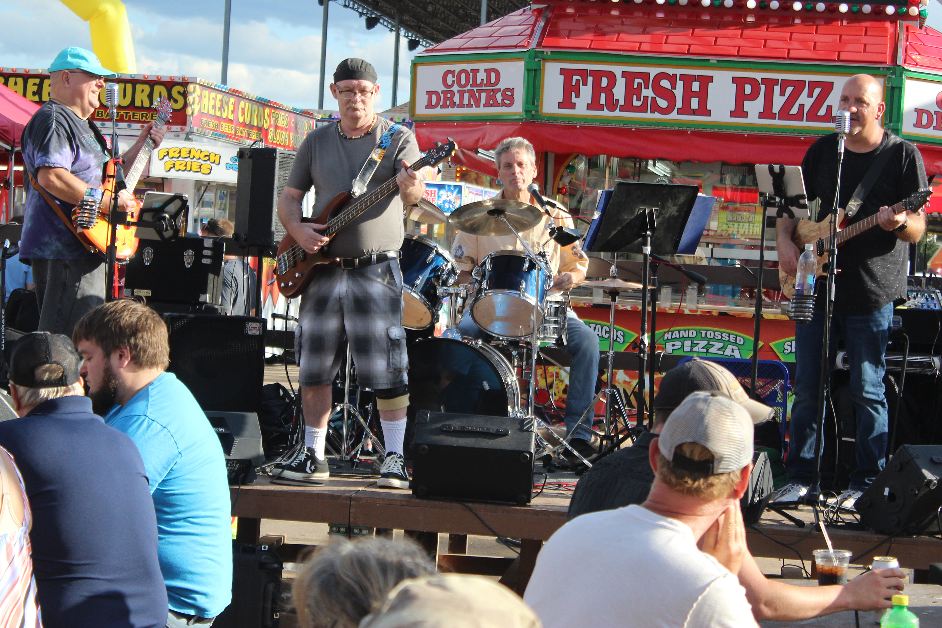 Beer Goggles was one of the many bands keeping the Shawano County Fair midway filled with music during the fair&#039;s 2021 run.<br />(Lee Pulaski   NEW Media)
