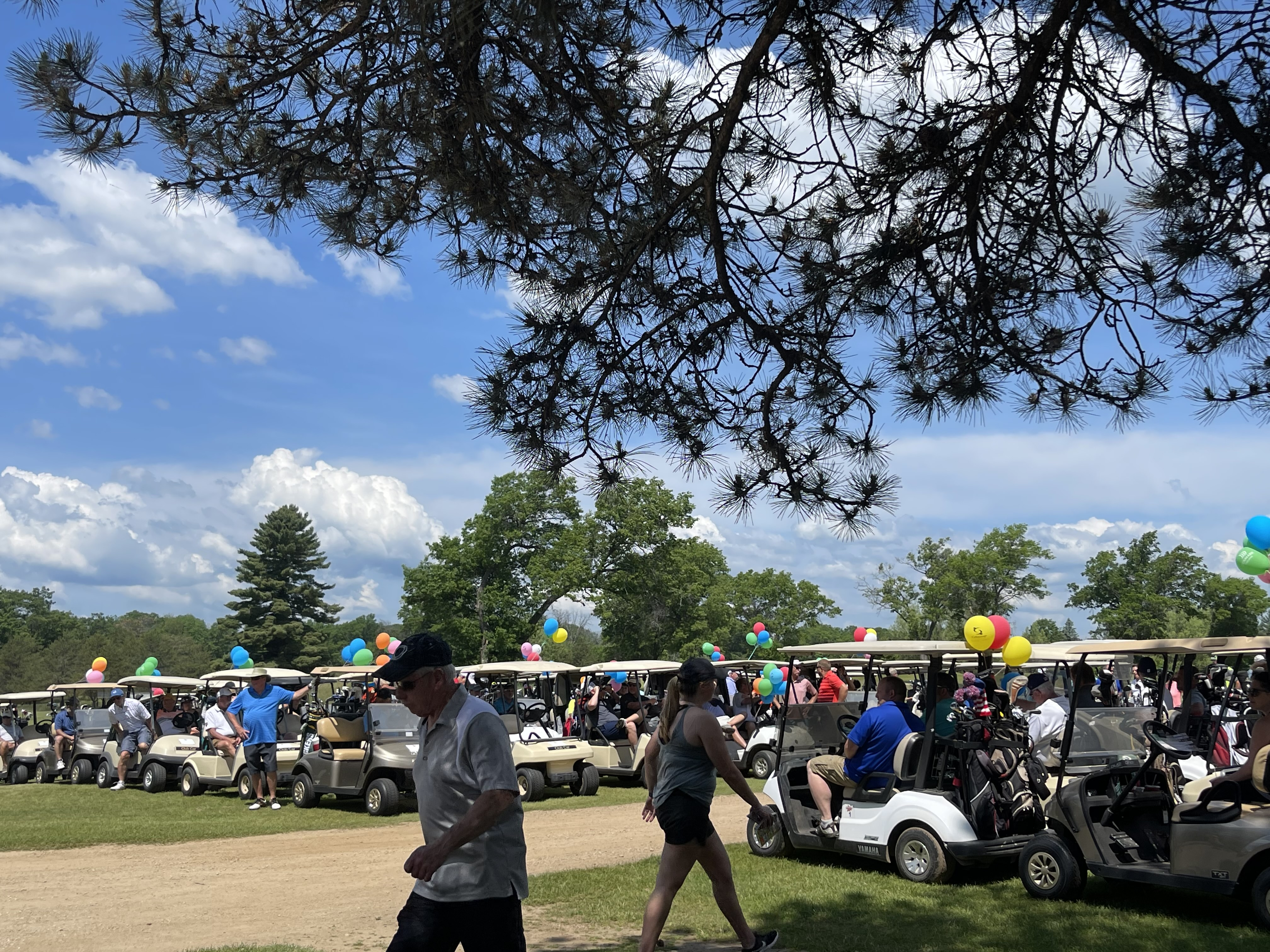 Sunny skies and temperatures exceeding 90 degrees, golfers prepare to tee off in the annual Shawano Area Waterways Management Golf Outing June 8 at Shawano Lake Golf Course, Shawano.Greg Mellis | NEW Media