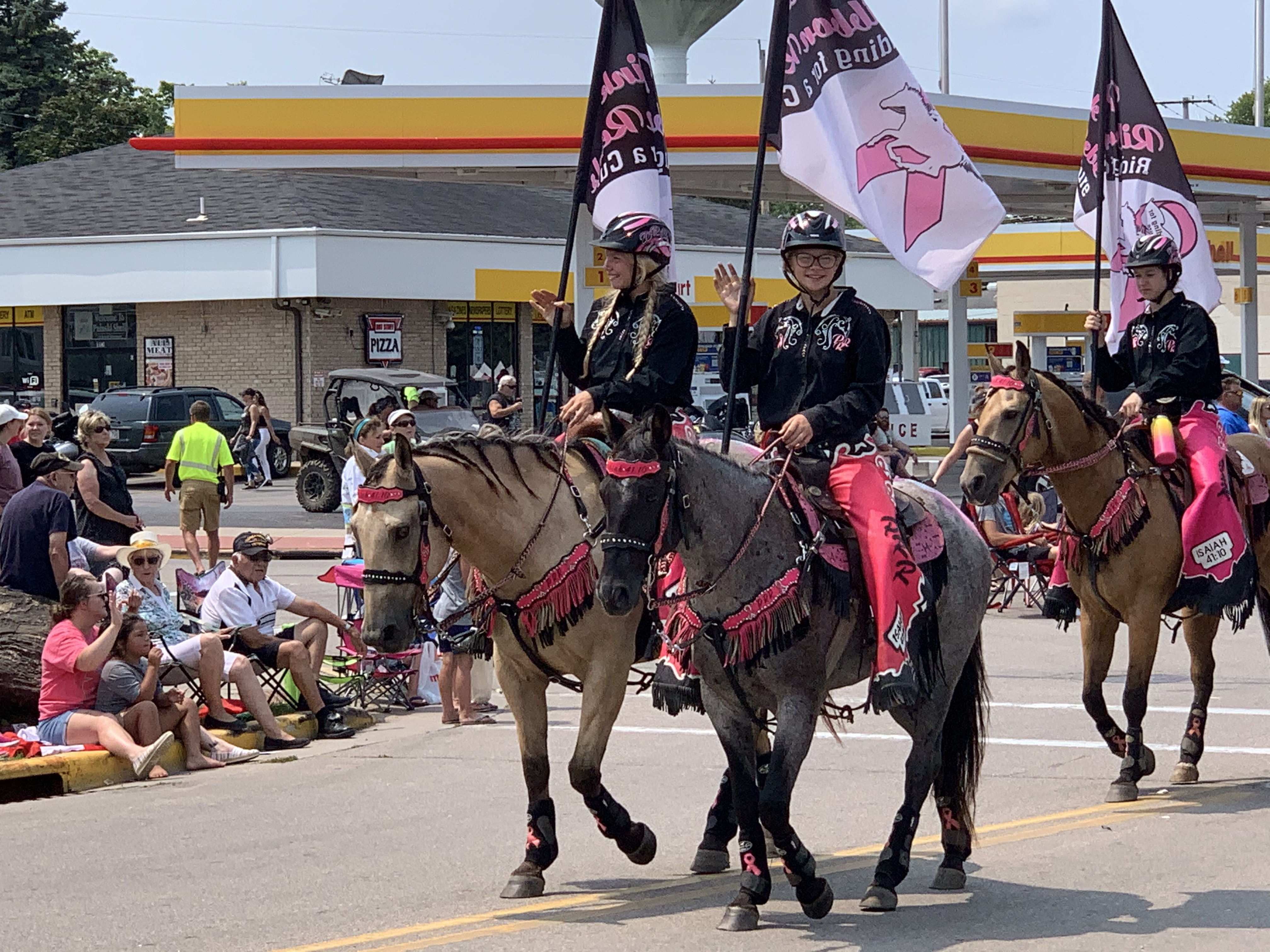 One of the more popular parts of the parade was the horses as they walked through promoting breast cancer awareness on July 18.Luke Reimer   NEW Media