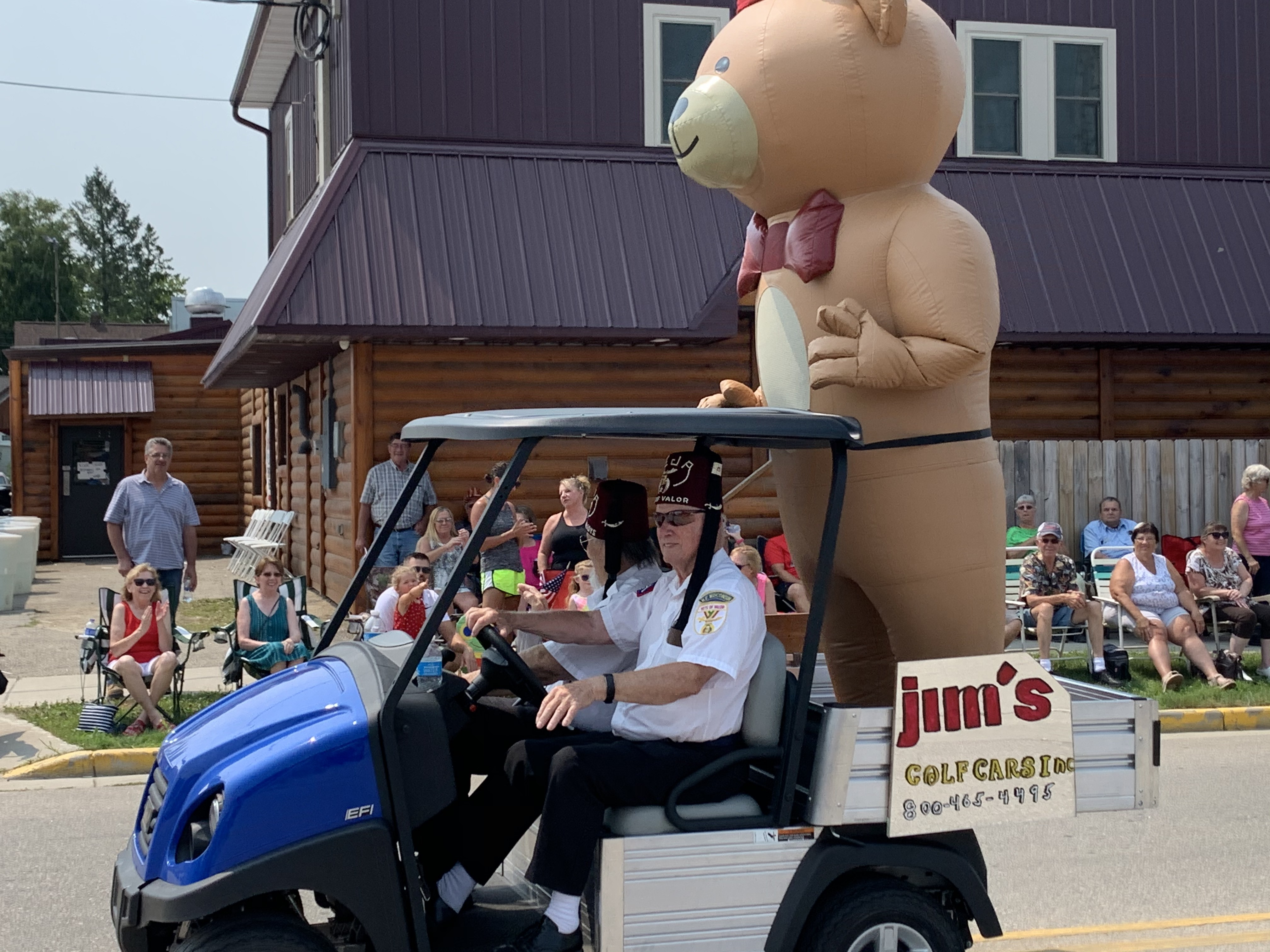 A giant inflatable bear was a spectacle as it passed visitors at the Polka Days Parade on Pulaski Street on July 18.Luke Reimer   NEW Media