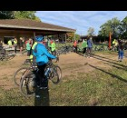 Participants prepare to begin their bike rides through Shawano County at the Bike the Barn Quilts event, held Sept. 25 at Memorial Park. Funds were raised to support Shawano Pathways.  Luke Reimer | NEW Media