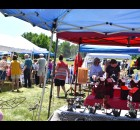 Shoppers browse in the sun among the booths June 13 at the Chase Stone Barn Crafts Show.  Warren Bluhm | NEW Media